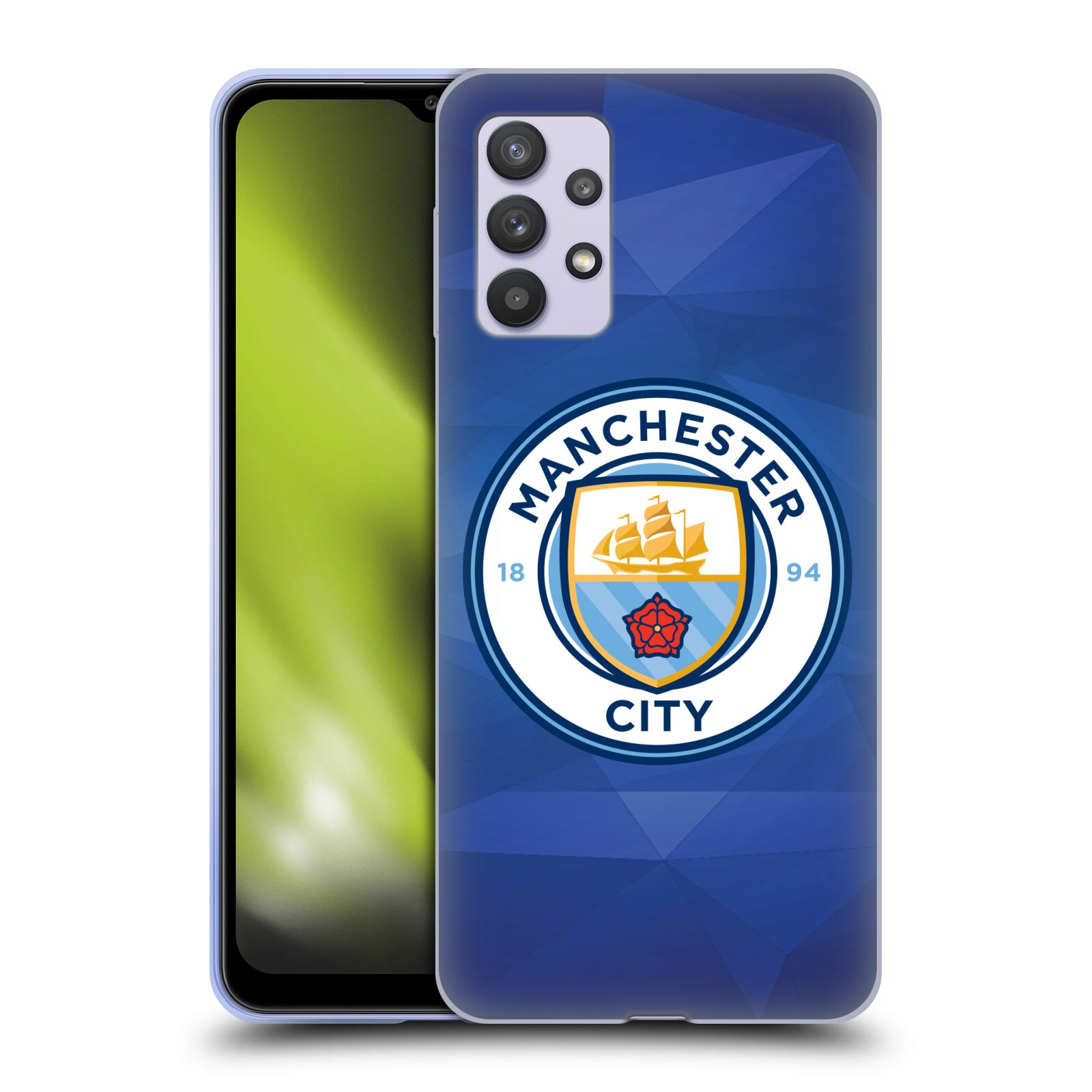 Silikonové pouzdro na mobil Samsung Galaxy A32 5G - Head Case - Manchester City FC - Modré nové logo