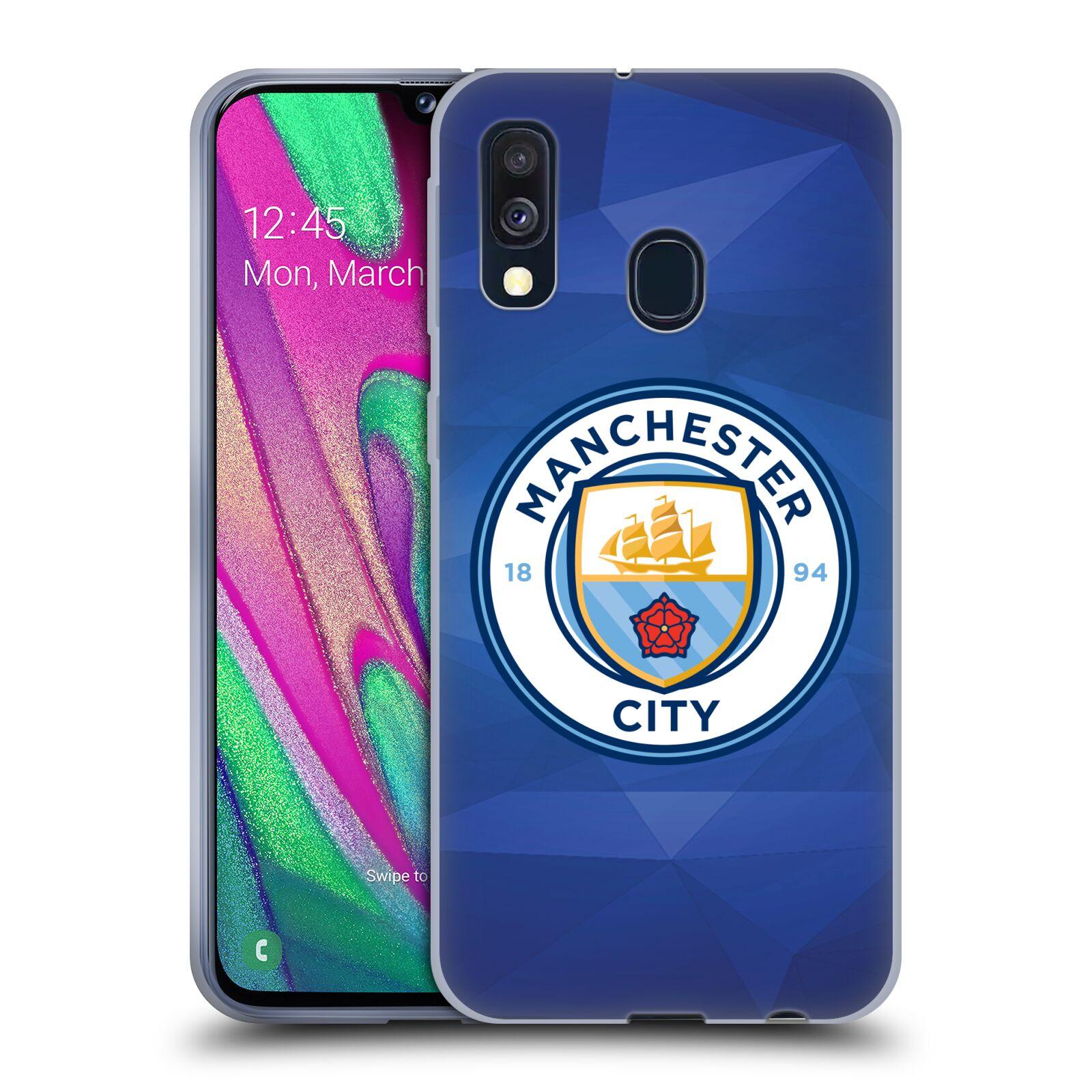 Silikonové pouzdro na mobil Samsung Galaxy A40 - Head Case - Manchester City FC - Modré nové logo