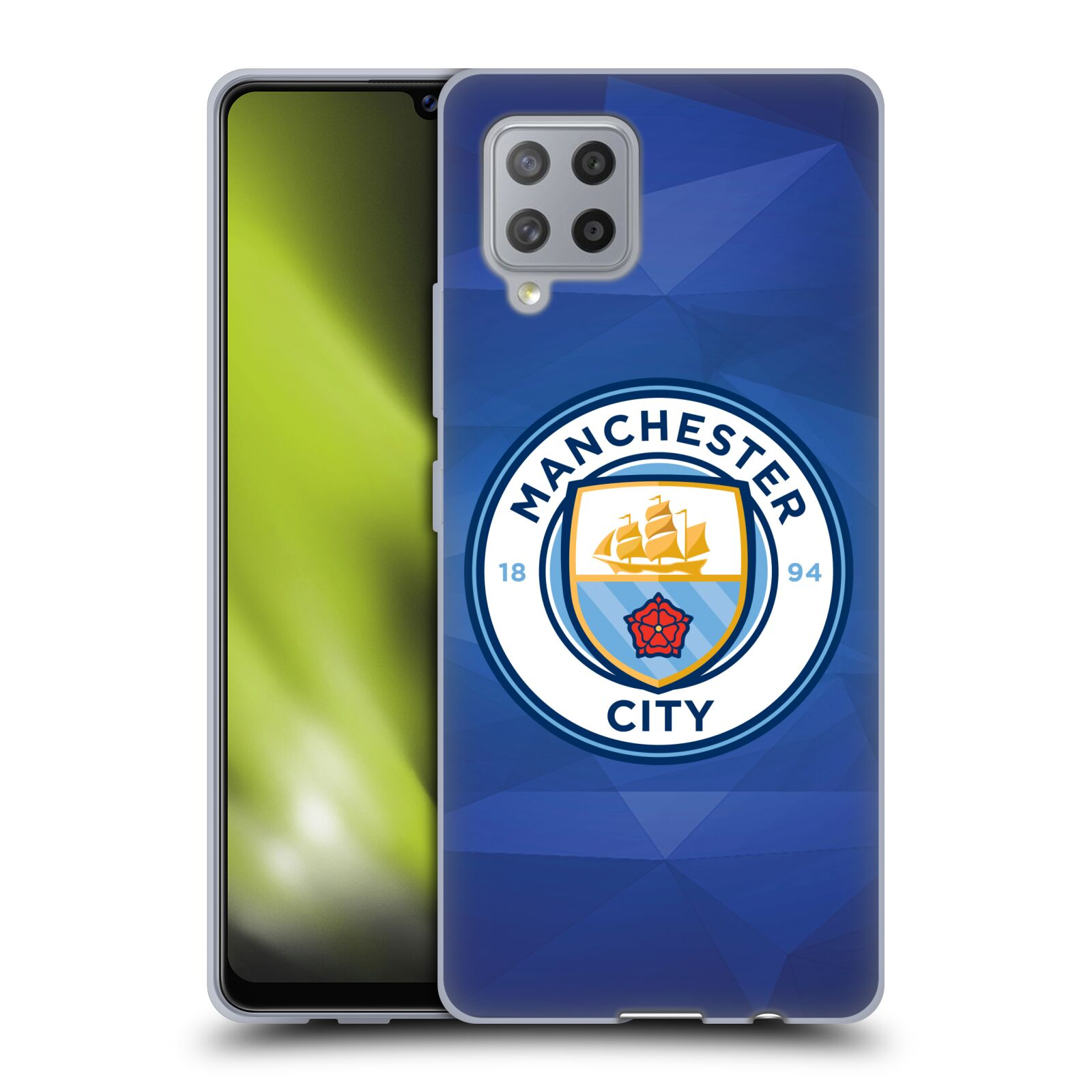 Silikonové pouzdro na mobil Samsung Galaxy A42 5G - Head Case - Manchester City FC - Modré nové logo