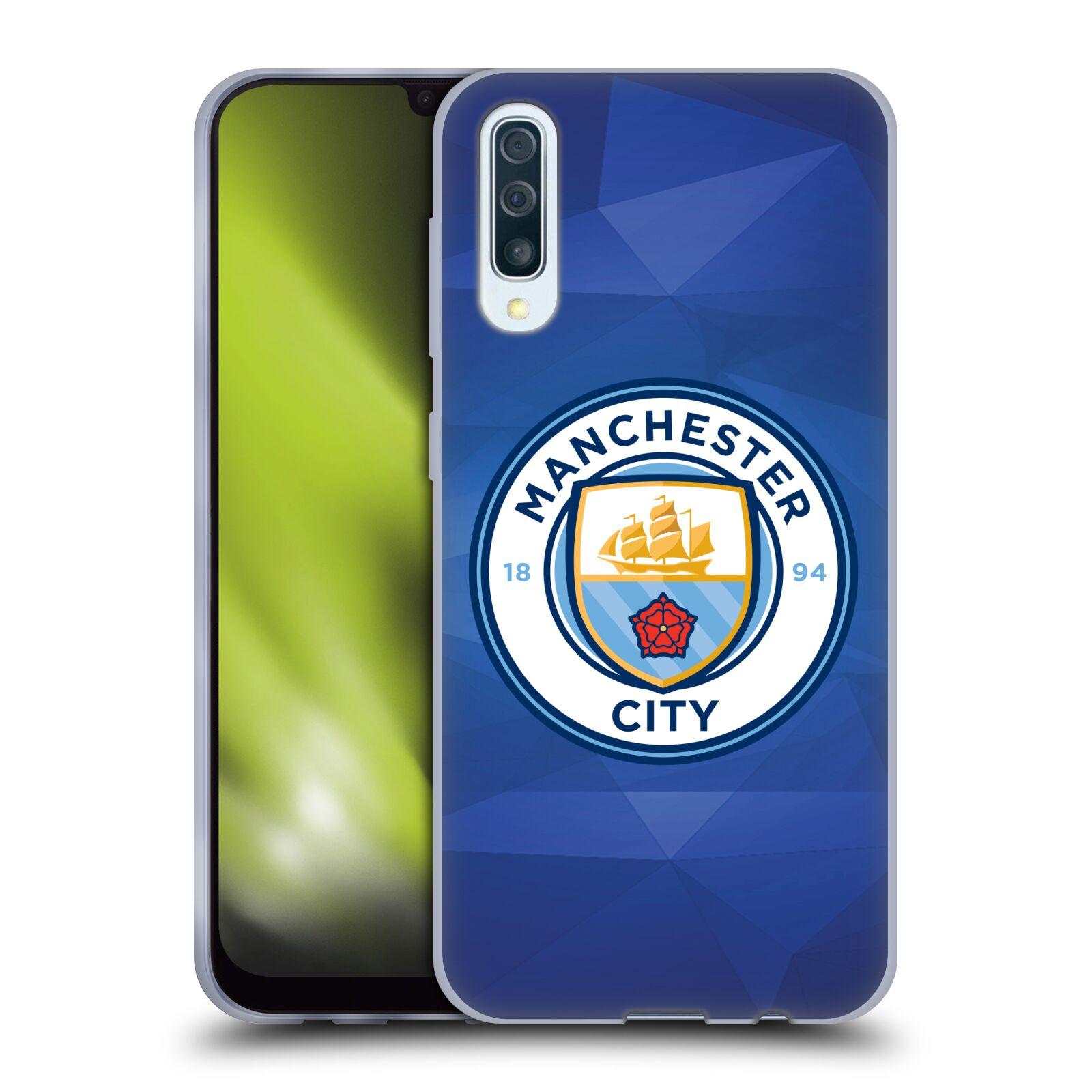 Silikonové pouzdro na mobil Samsung Galaxy A50 / A30s - Head Case - Manchester City FC - Modré nové logo