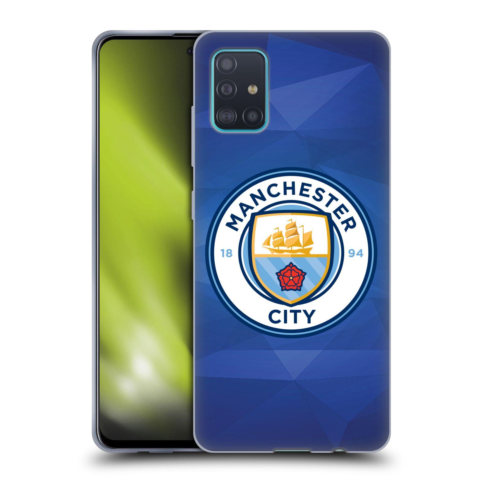 Silikonové pouzdro na mobil Samsung Galaxy A51 - Head Case - Manchester City FC - Modré nové logo