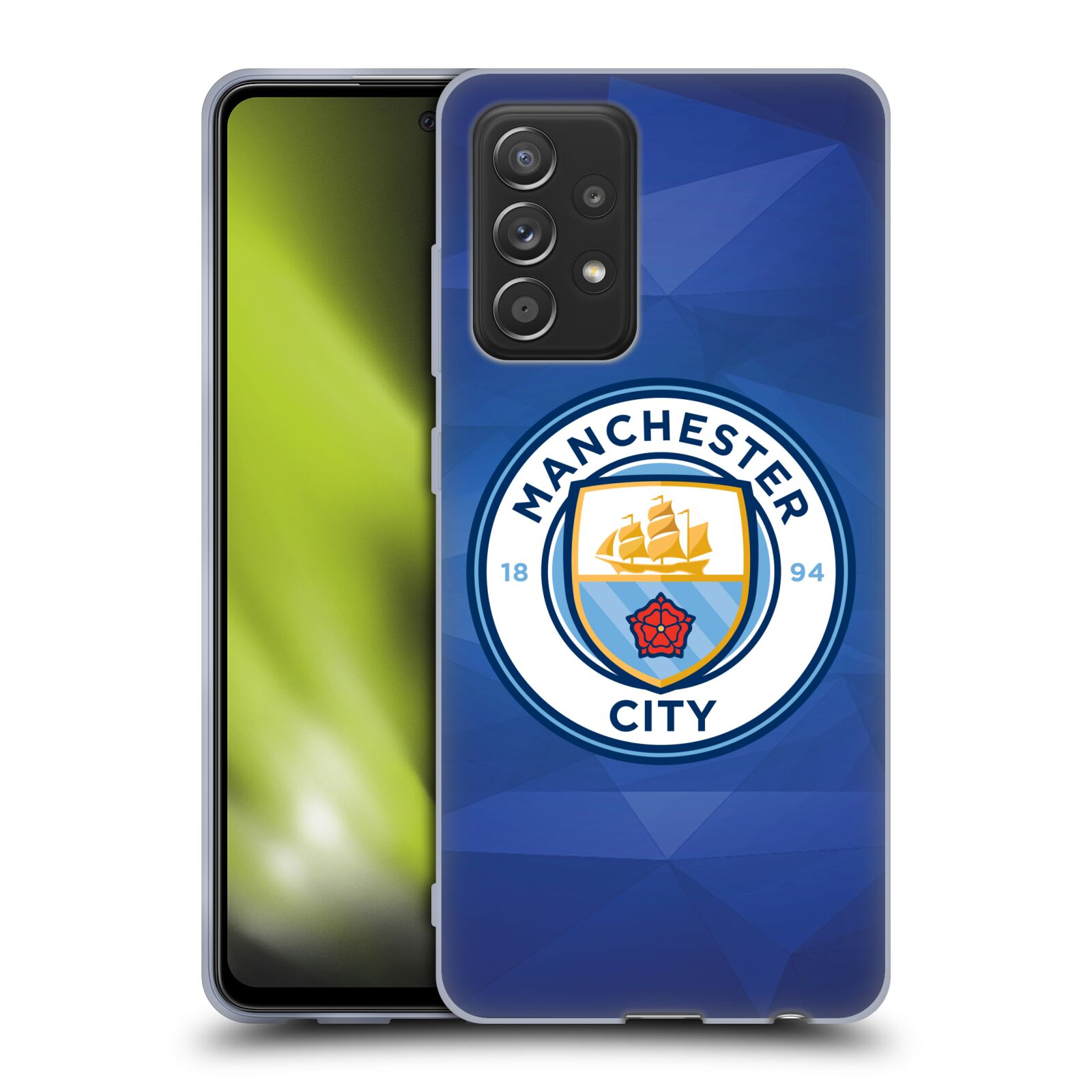 Silikonové pouzdro na mobil Samsung Galaxy A52 / A52 5G / A52s 5G - Head Case - Manchester City FC - Modré nové logo