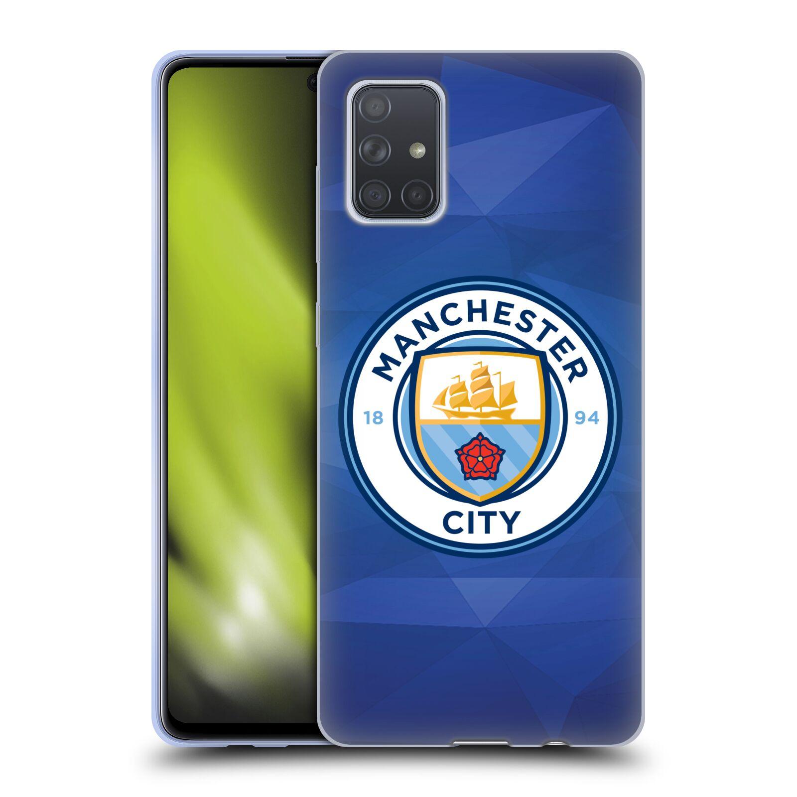 Silikonové pouzdro na mobil Samsung Galaxy A71 - Head Case - Manchester City FC - Modré nové logo