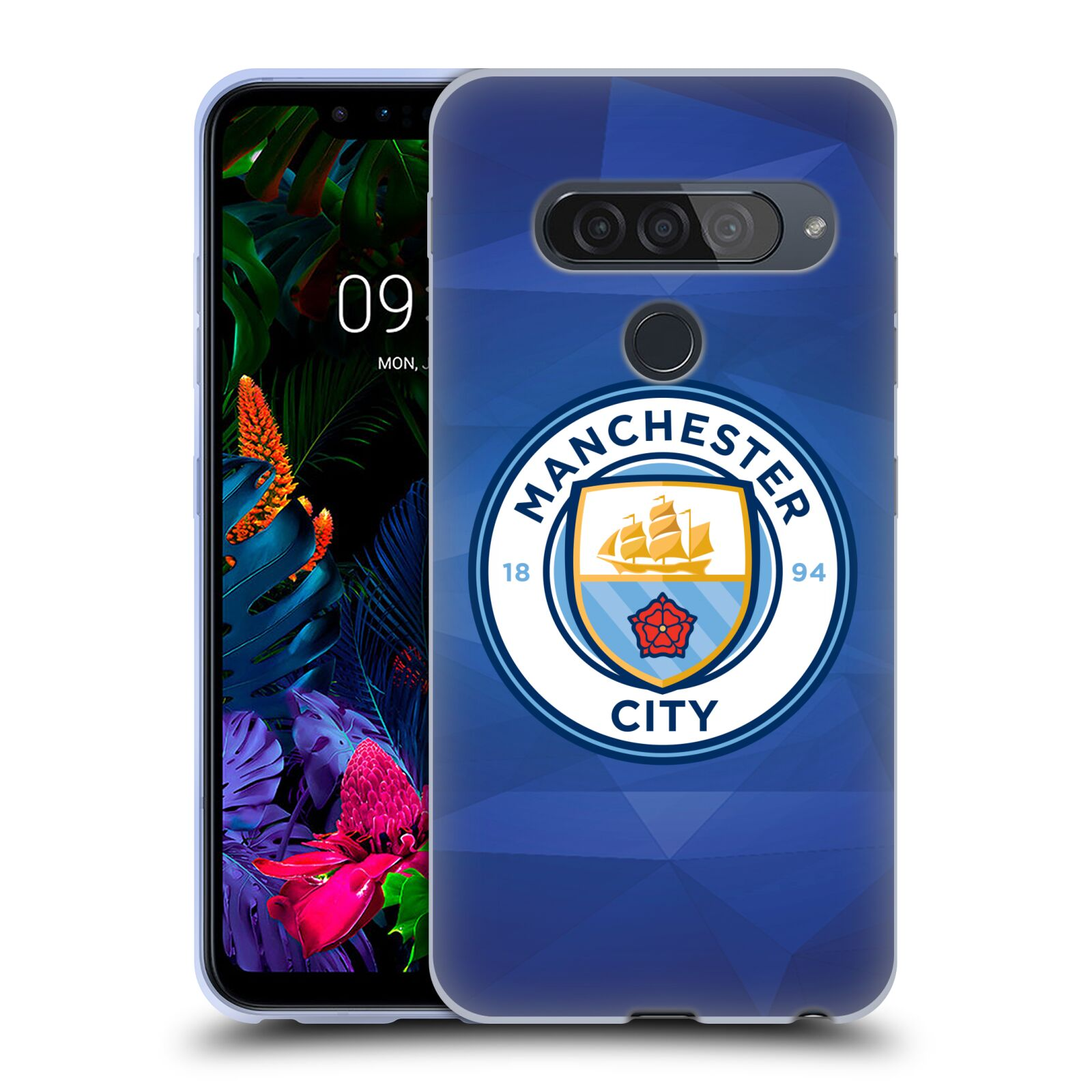 Silikonové pouzdro na mobil LG G8s ThinQ - Head Case - Manchester City FC - Modré nové logo