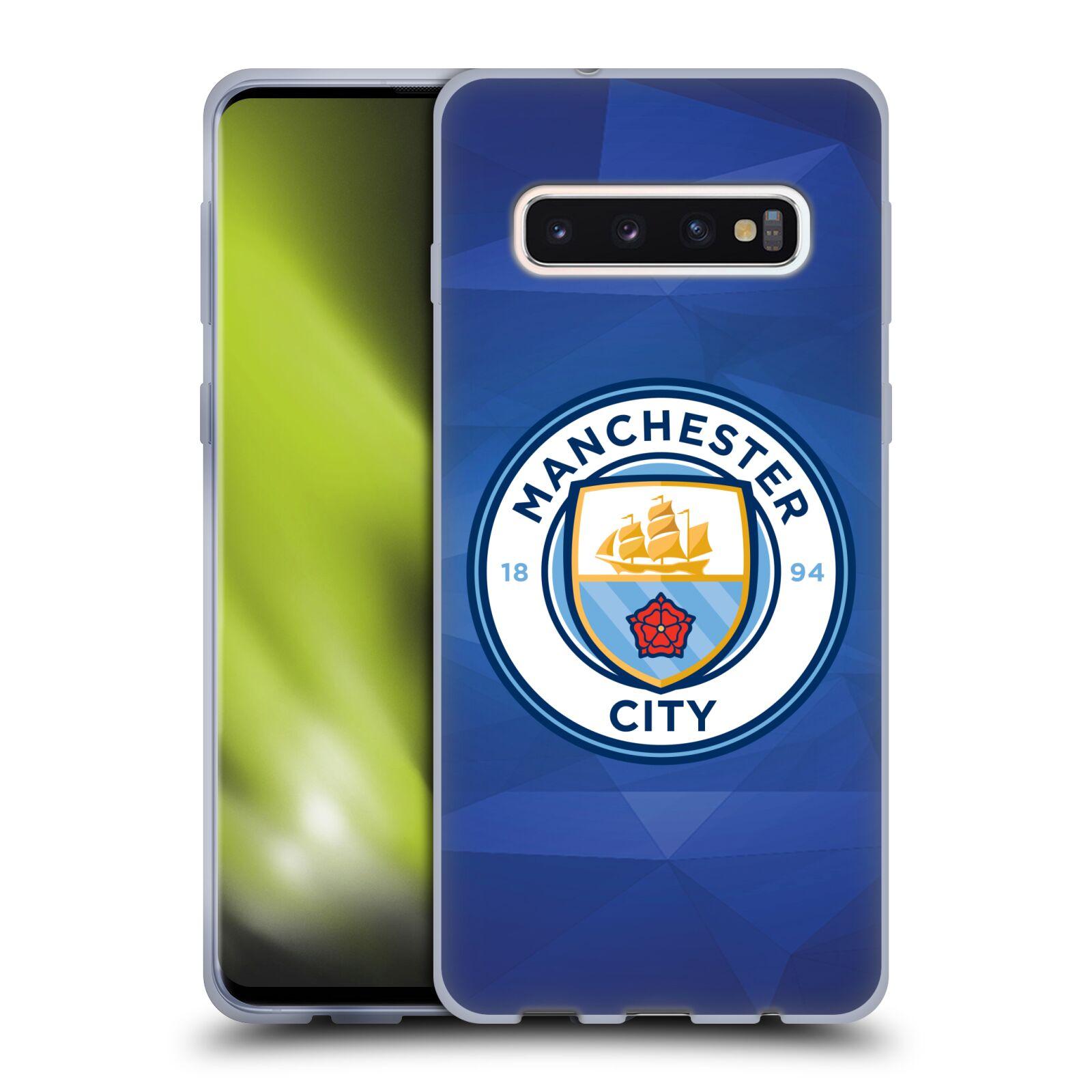 Silikonové pouzdro na mobil Samsung Galaxy S10 - Head Case - Manchester City FC - Modré nové logo