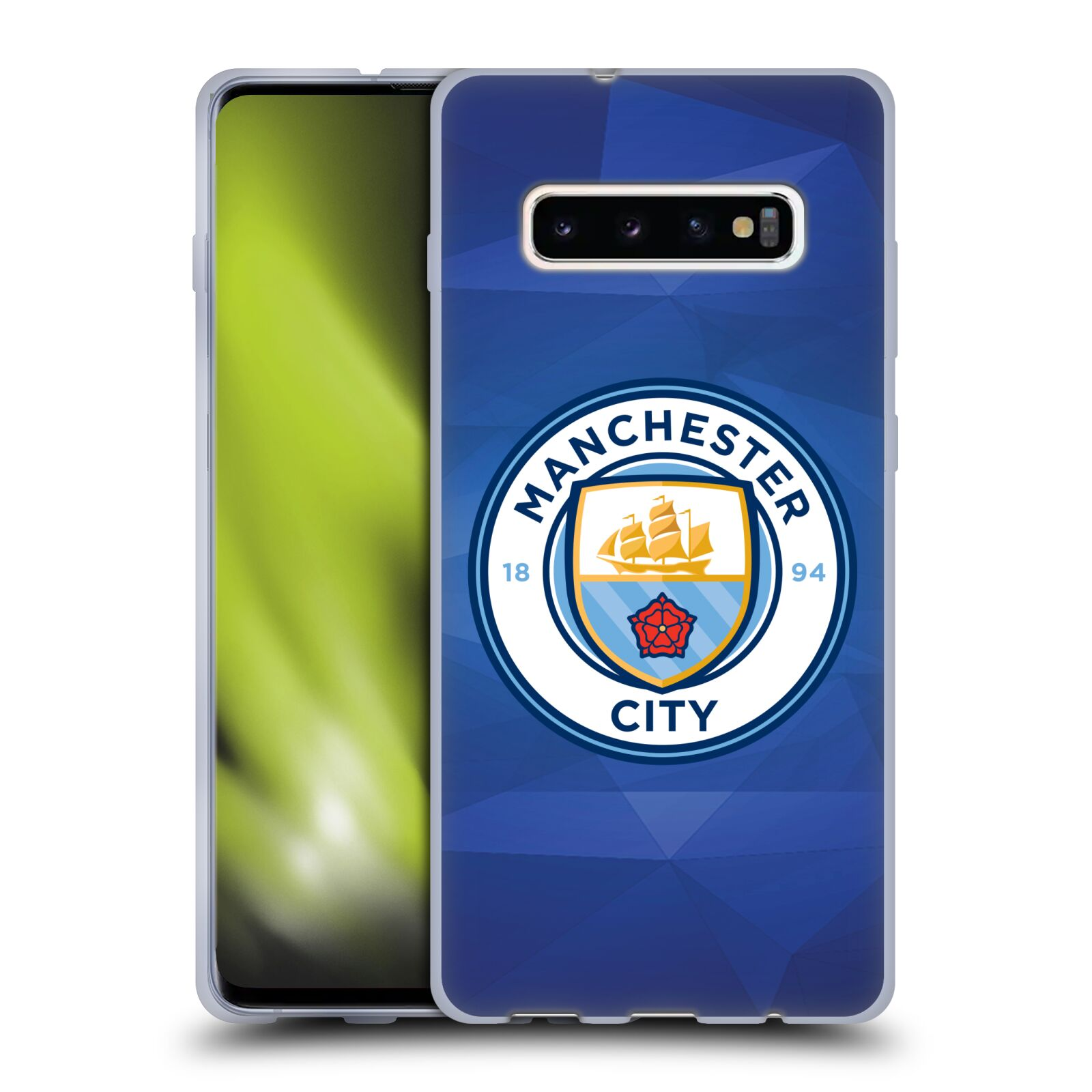 Silikonové pouzdro na mobil Samsung Galaxy S10 Plus - Head Case - Manchester City FC - Modré nové logo