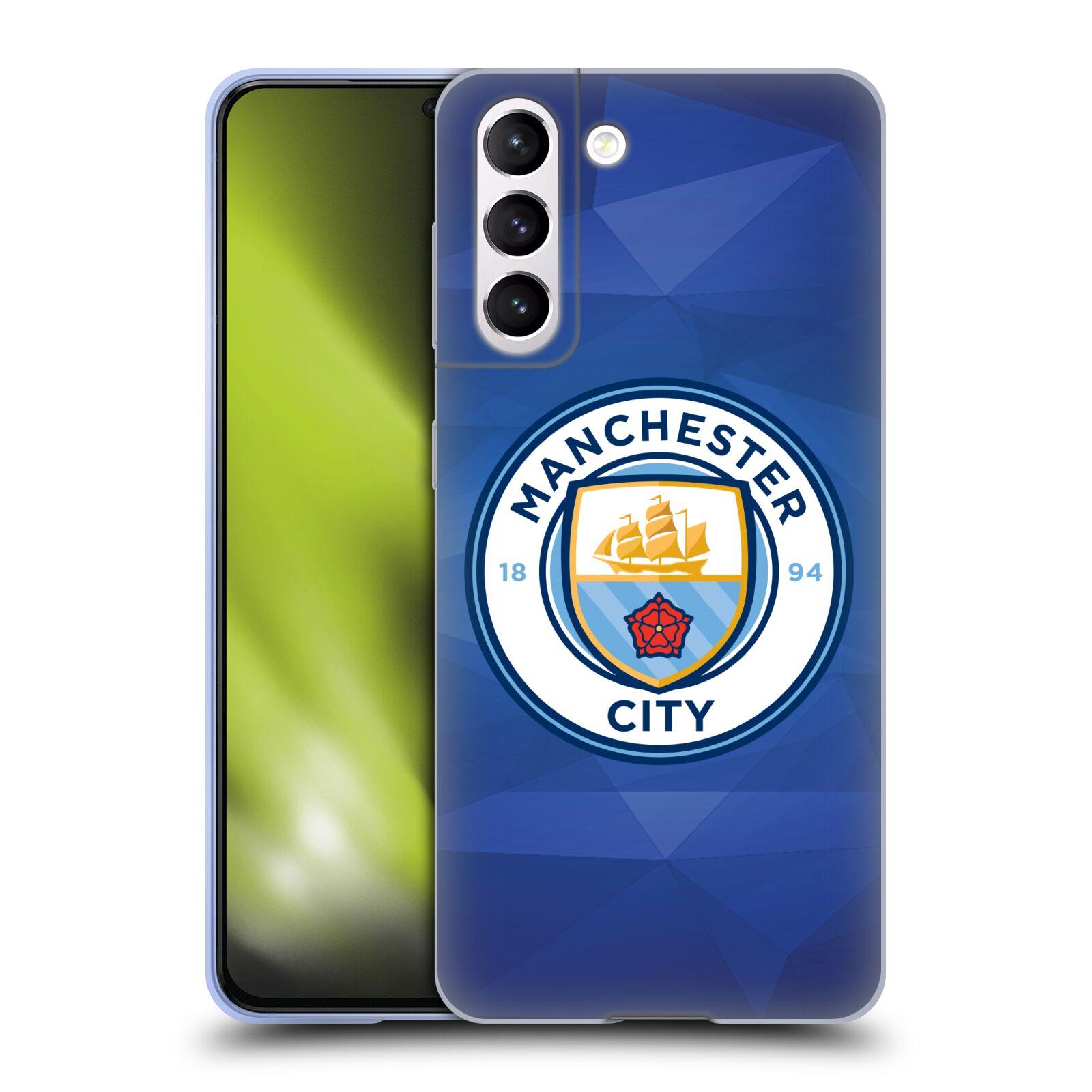 Silikonové pouzdro na mobil Samsung Galaxy S21 5G - Head Case - Manchester City FC - Modré nové logo