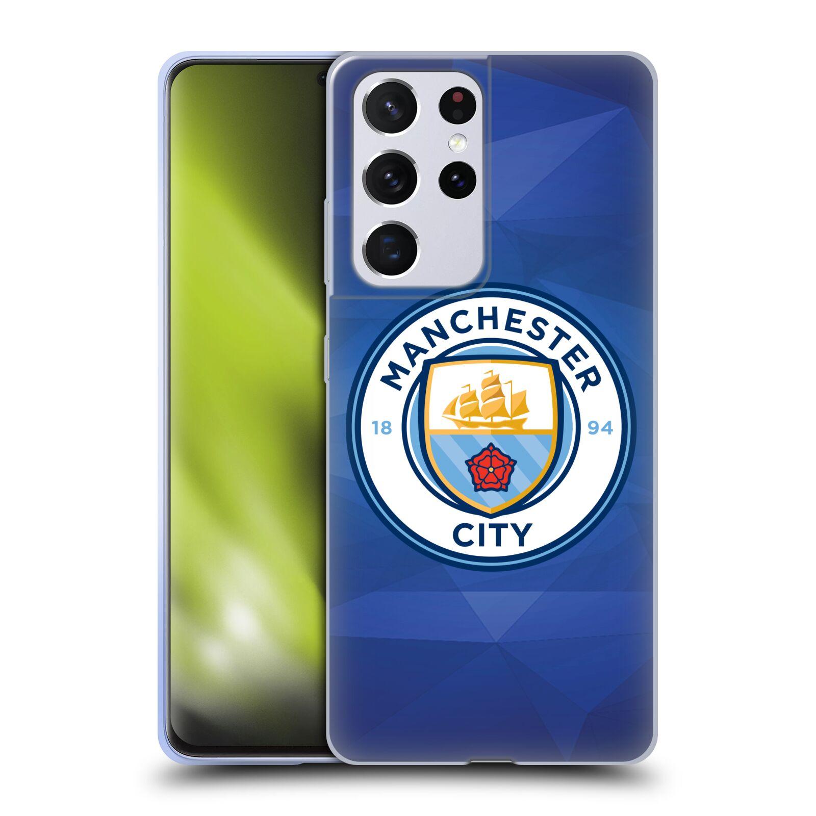 Silikonové pouzdro na mobil Samsung Galaxy S21 Ultra 5G - Head Case - Manchester City FC - Modré nové logo