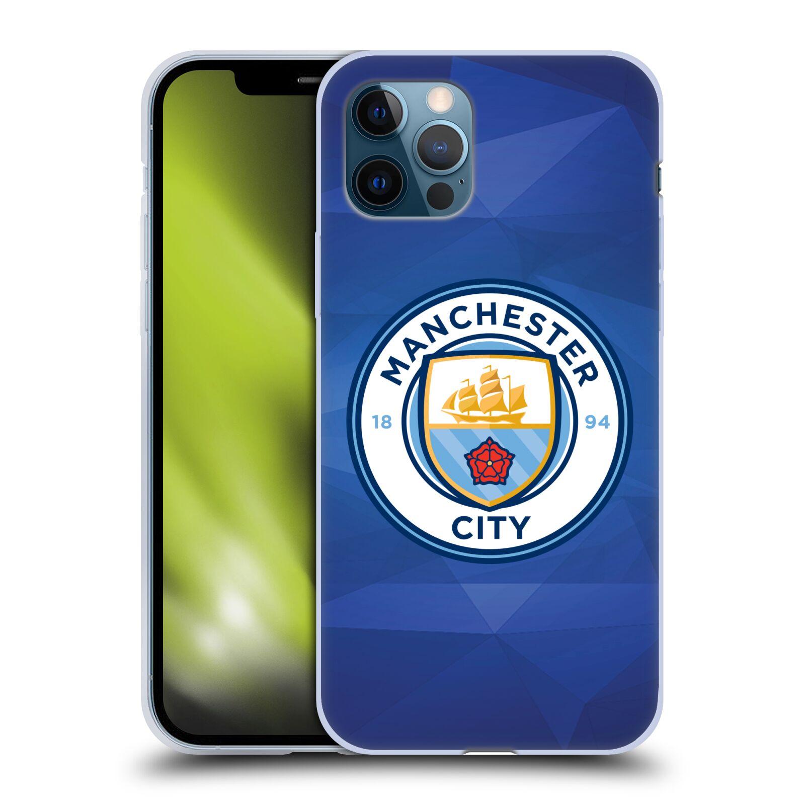 Silikonové pouzdro na mobil Apple iPhone 12 / 12 Pro - Head Case - Manchester City FC - Modré nové logo