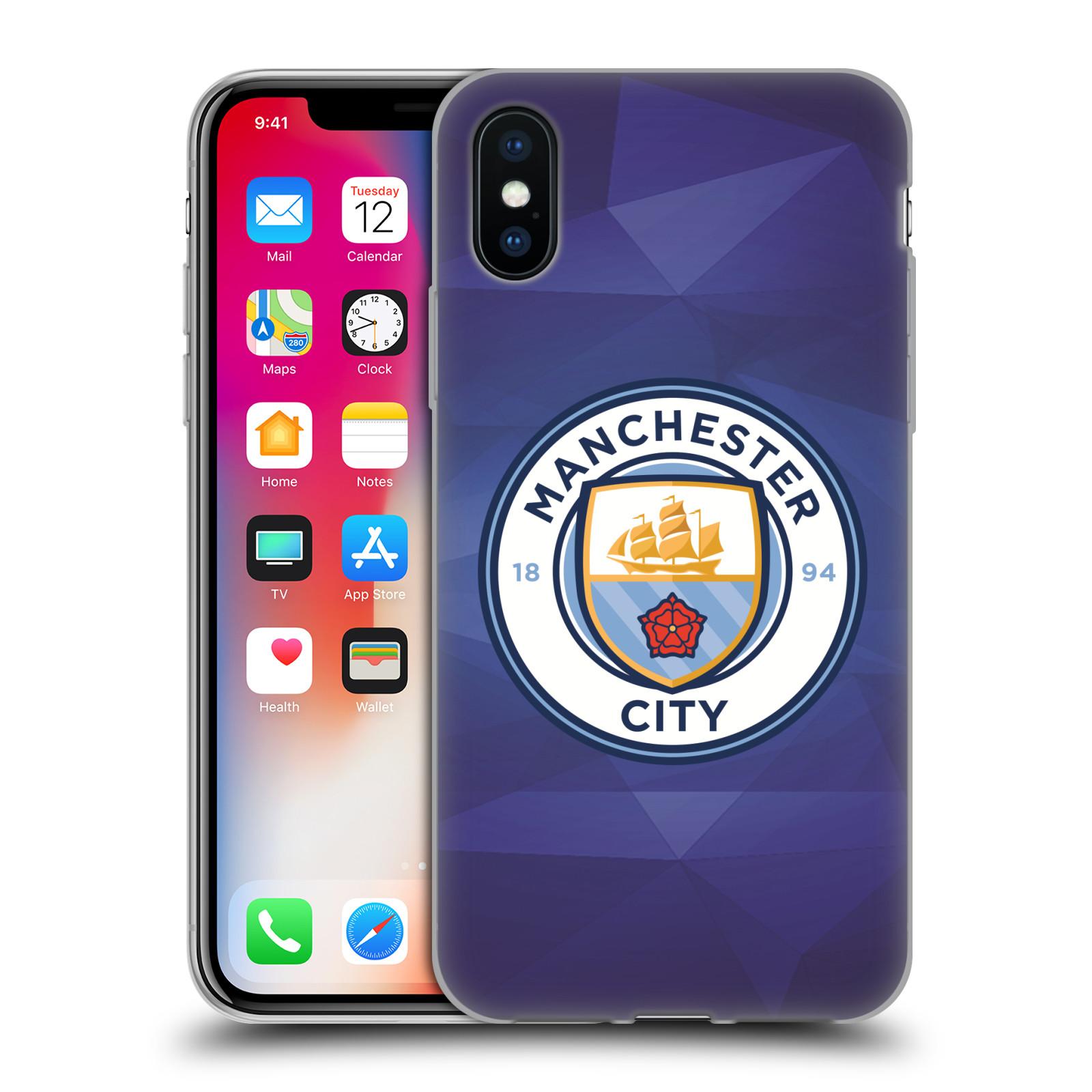 Silikonové pouzdro na mobil Apple iPhone XS - Head Case - Manchester City FC - Modré nové logo