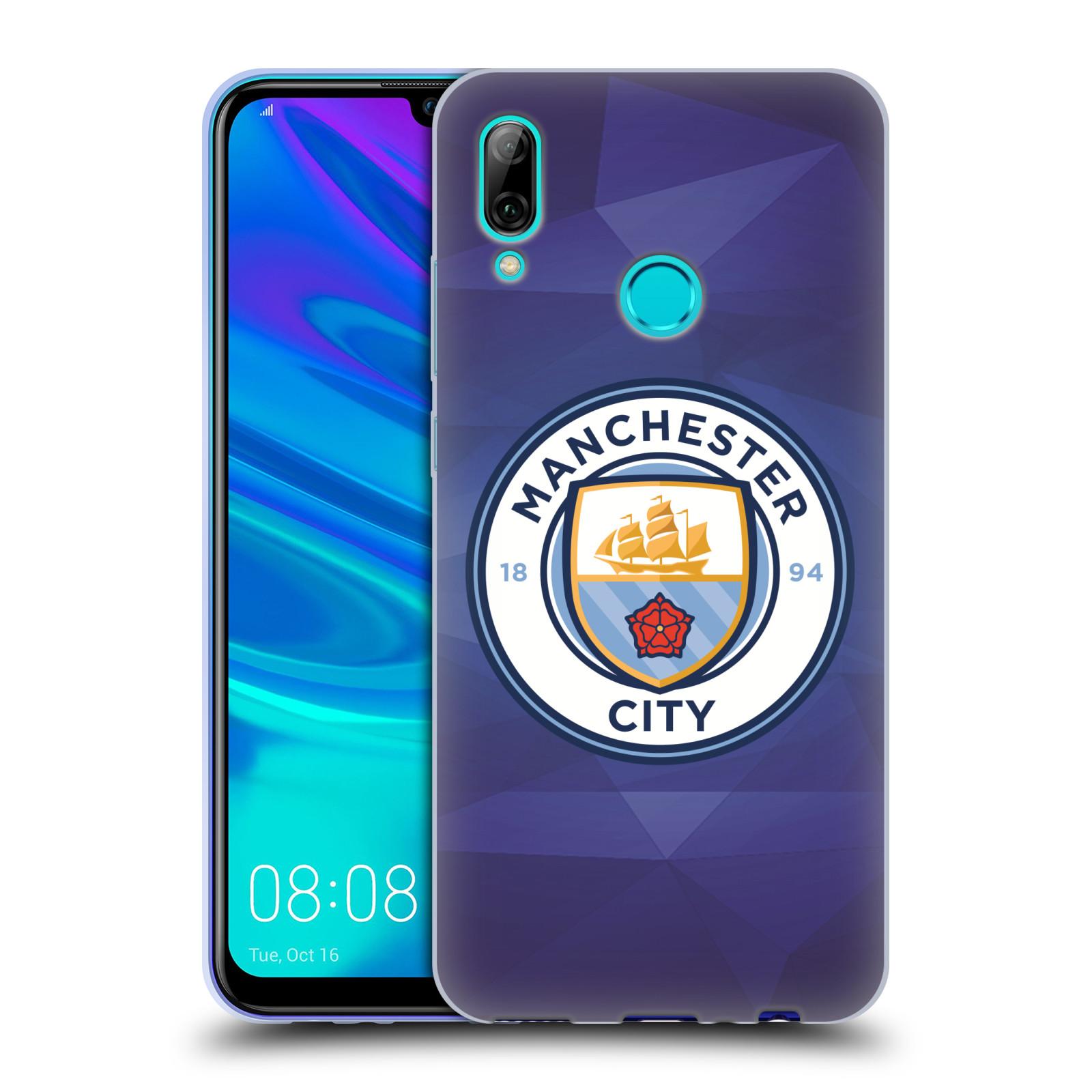 Silikonové pouzdro na mobil Huawei P Smart (2019) - Head Case - Manchester City FC - Modré nové logo