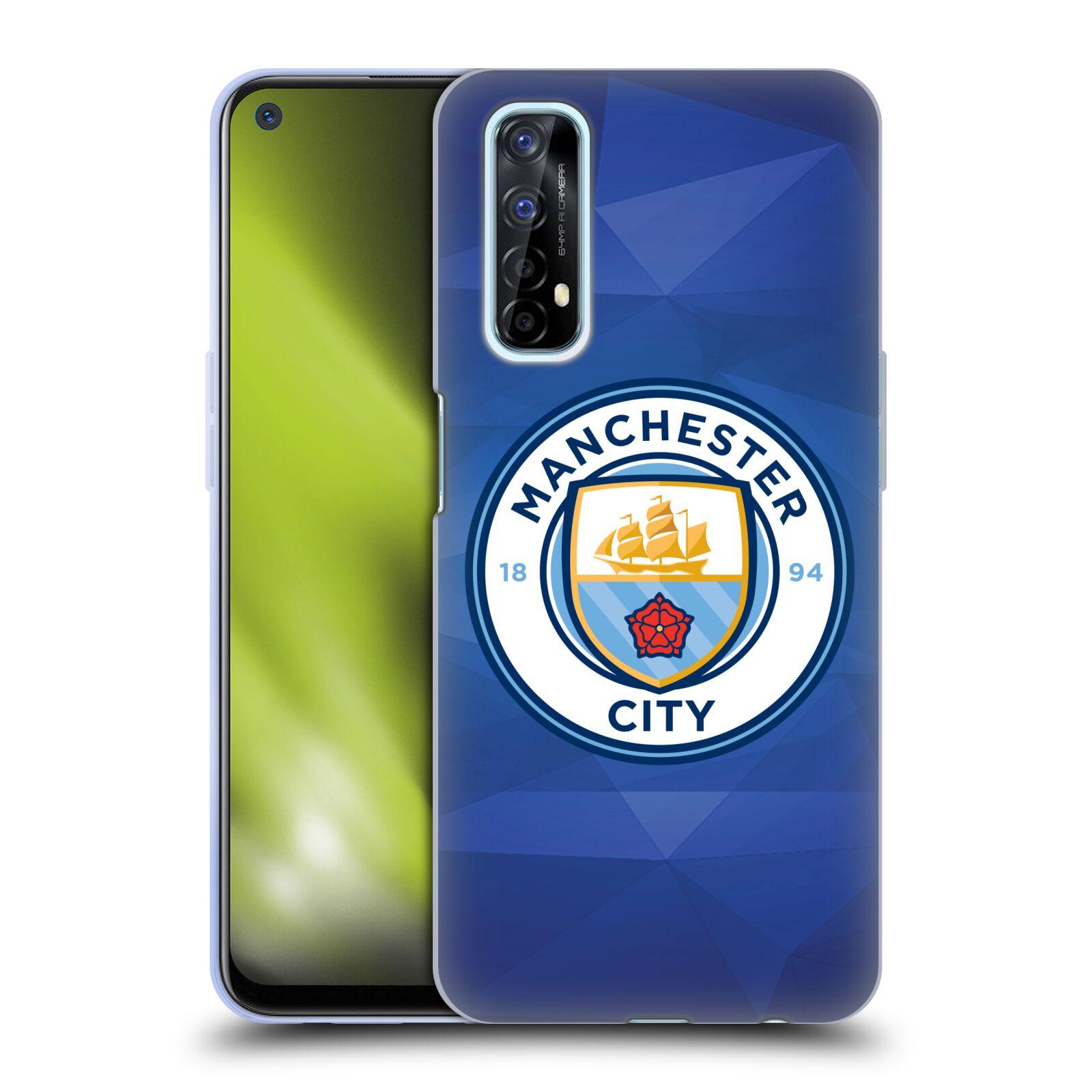 Silikonové pouzdro na mobil Realme 7 - Head Case - Manchester City FC - Modré nové logo