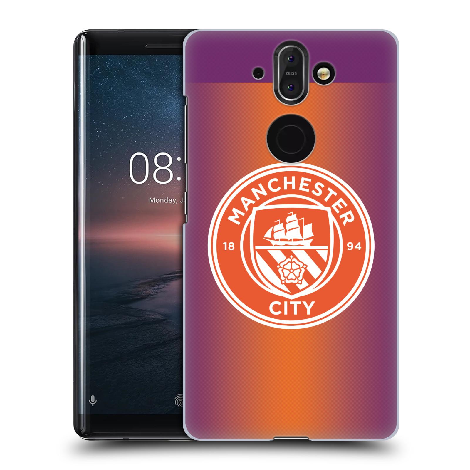 Plastové pouzdro na mobil Nokia 8 Sirocco - Head Case - Manchester City FC - Oranžové nové logo