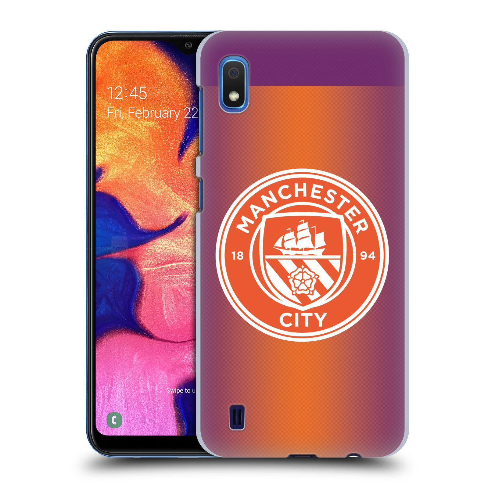Plastové pouzdro na mobil Samsung Galaxy A10 - Head Case - Manchester City FC - Oranžové nové logo
