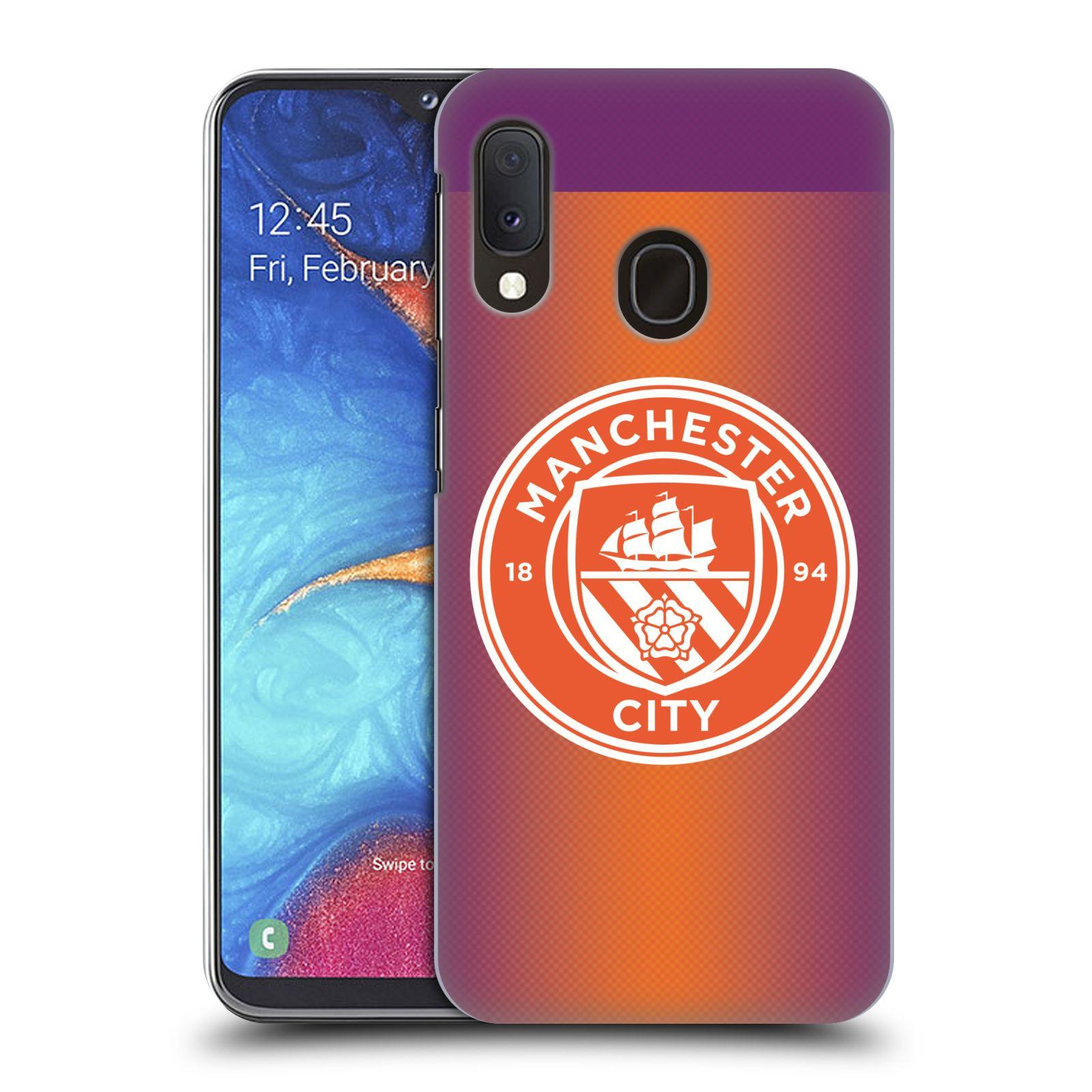 Plastové pouzdro na mobil Samsung Galaxy A20e - Head Case - Manchester City FC - Oranžové nové logo