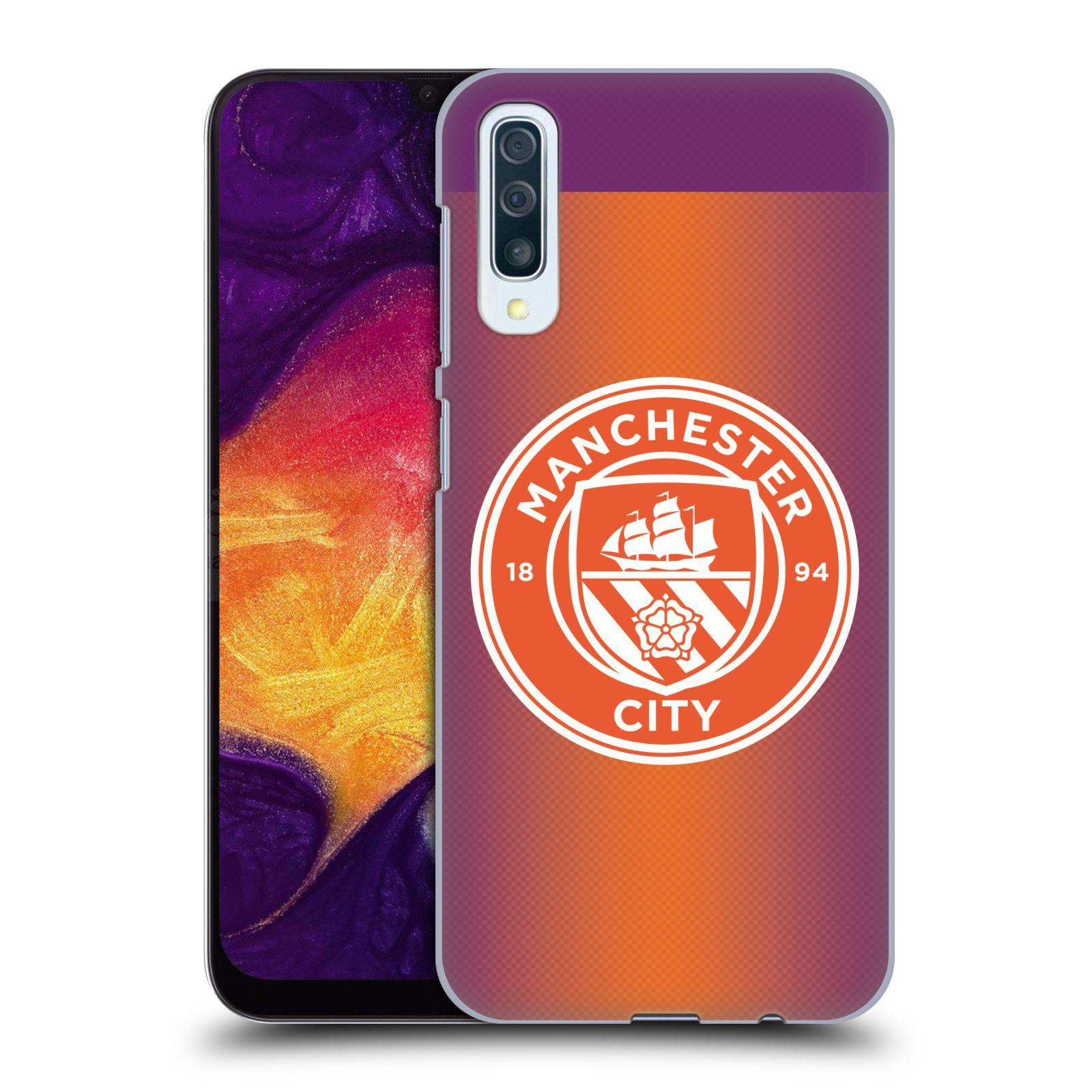 Plastové pouzdro na mobil Samsung Galaxy A50 - Head Case - Manchester City FC - Oranžové nové logo