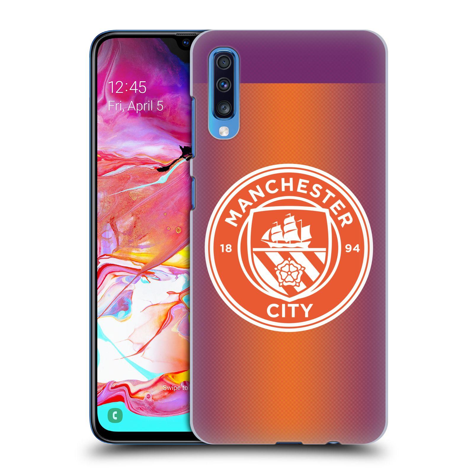 Plastové pouzdro na mobil Samsung Galaxy A70 - Head Case - Manchester City FC - Oranžové nové logo