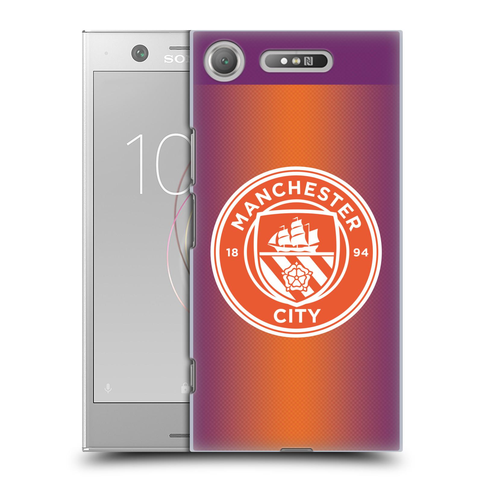 Plastové pouzdro na mobil Sony Xperia XZ1 - Head Case - Manchester City FC - Oranžové nové logo