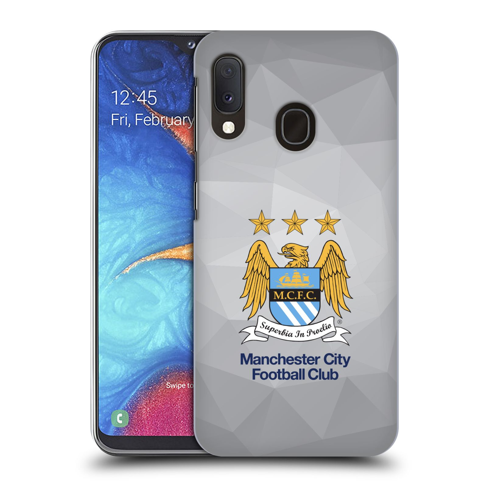 Plastové pouzdro na mobil Samsung Galaxy A20e - Head Case - Manchester City FC - Football Club