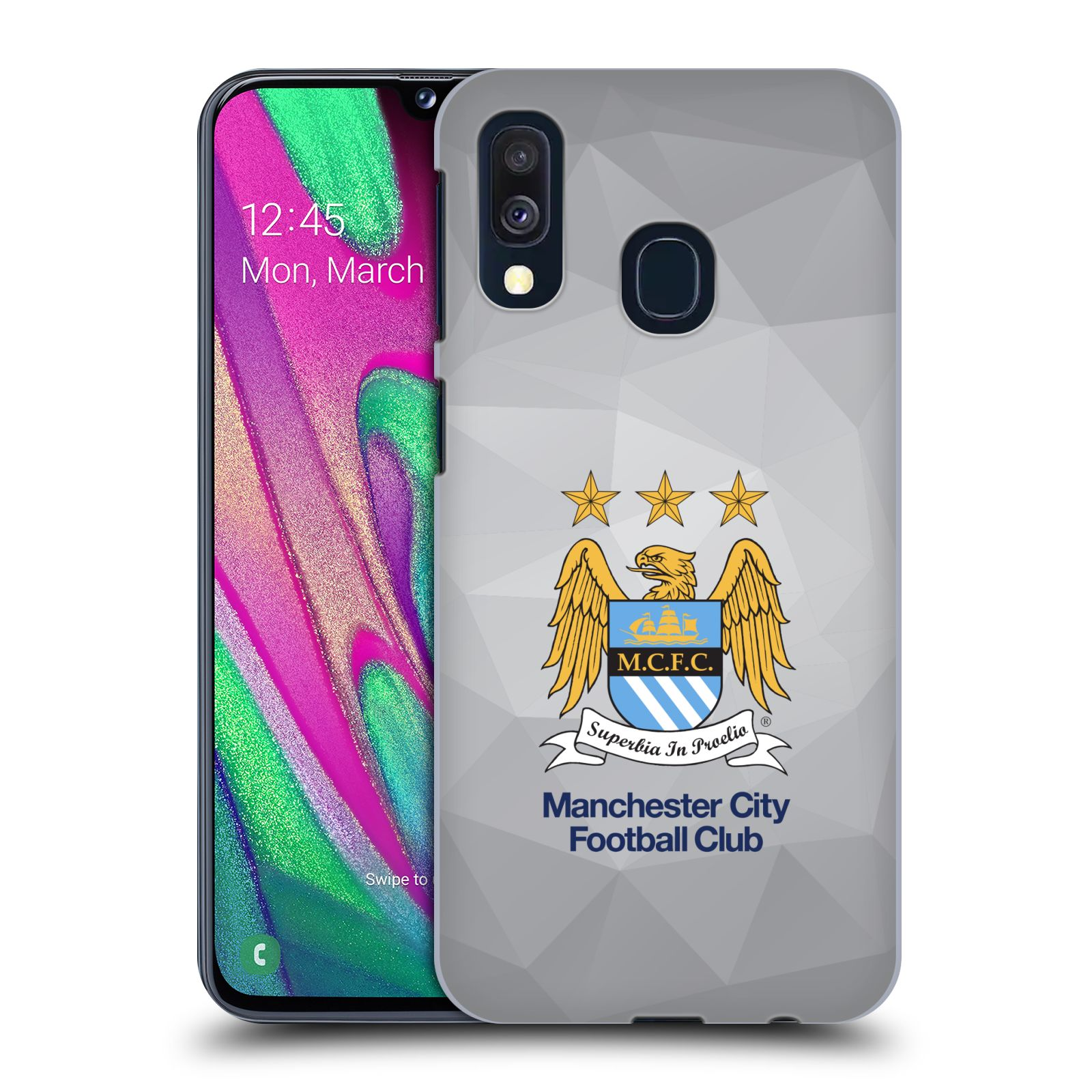 Plastové pouzdro na mobil Samsung Galaxy A40 - Head Case - Manchester City FC - Football Club