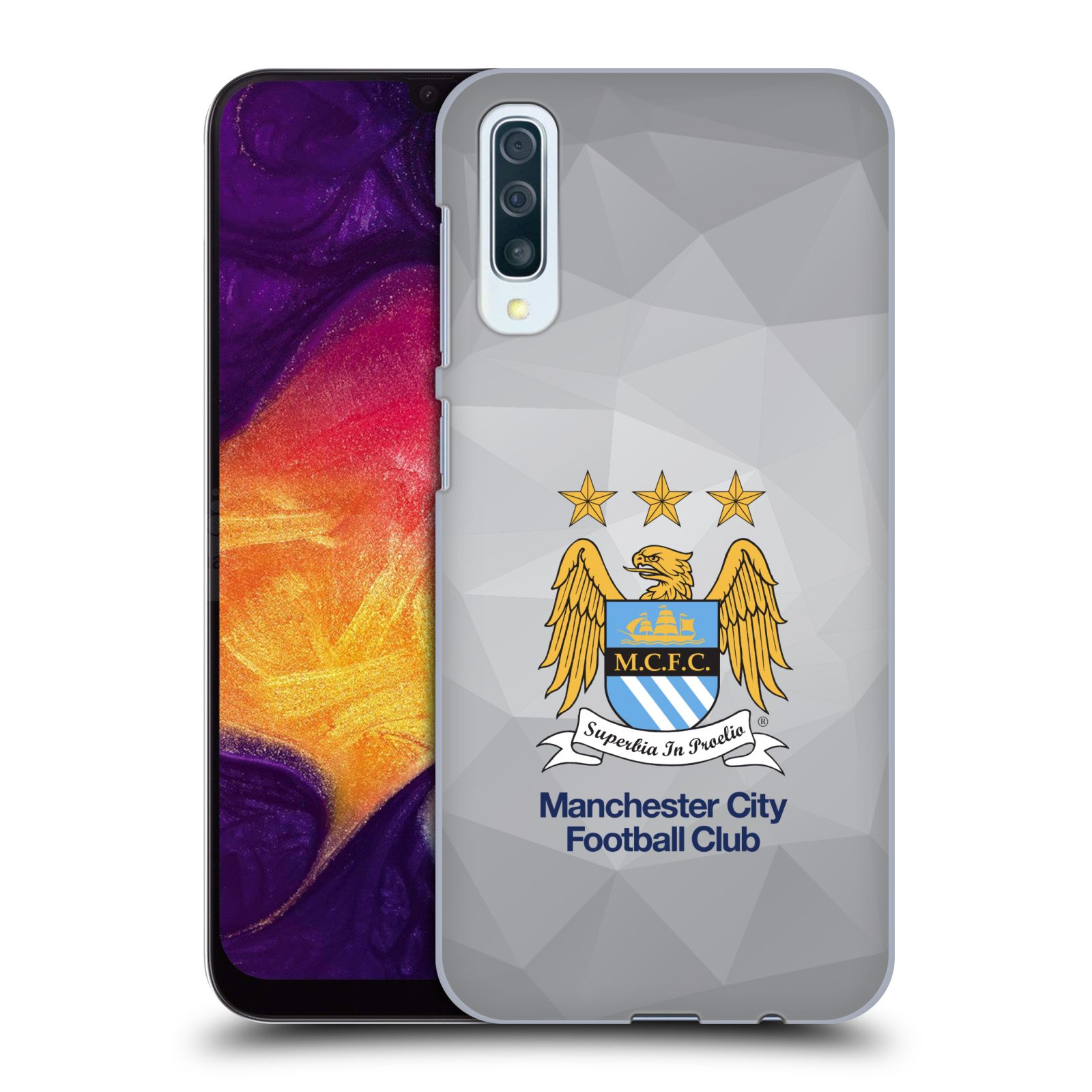 Plastové pouzdro na mobil Samsung Galaxy A50 - Head Case - Manchester City FC - Football Club