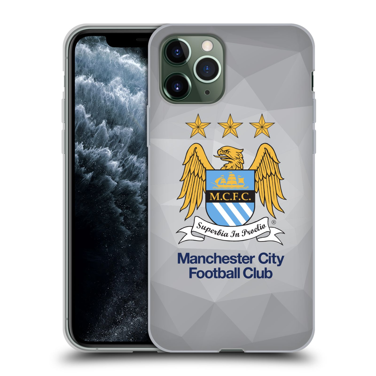 obal iphone plast | Silikonové pouzdro na mobil Apple iPhone 11 Pro - Head Case - Manchester City FC - Football Club
