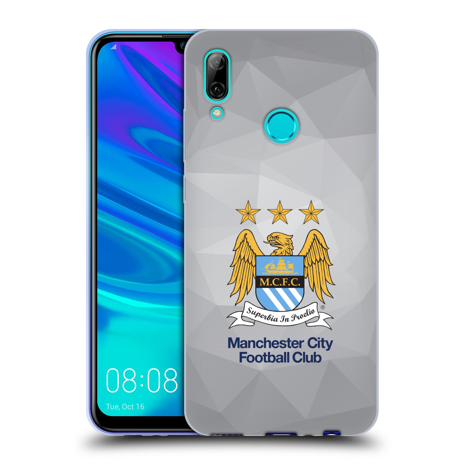 Silikonové pouzdro na mobil Huawei P Smart (2019) - Head Case - Manchester City FC - Football Club