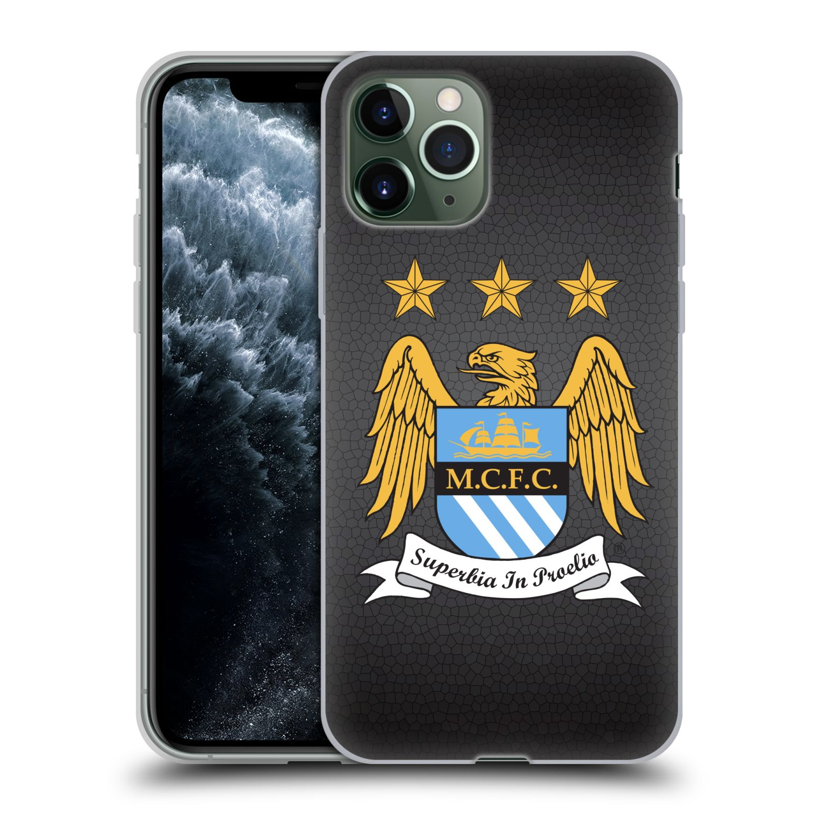 kryt iphone x silikon , Silikonové pouzdro na mobil Apple iPhone 11 Pro - Head Case - Manchester City FC - Superbia In Proelio