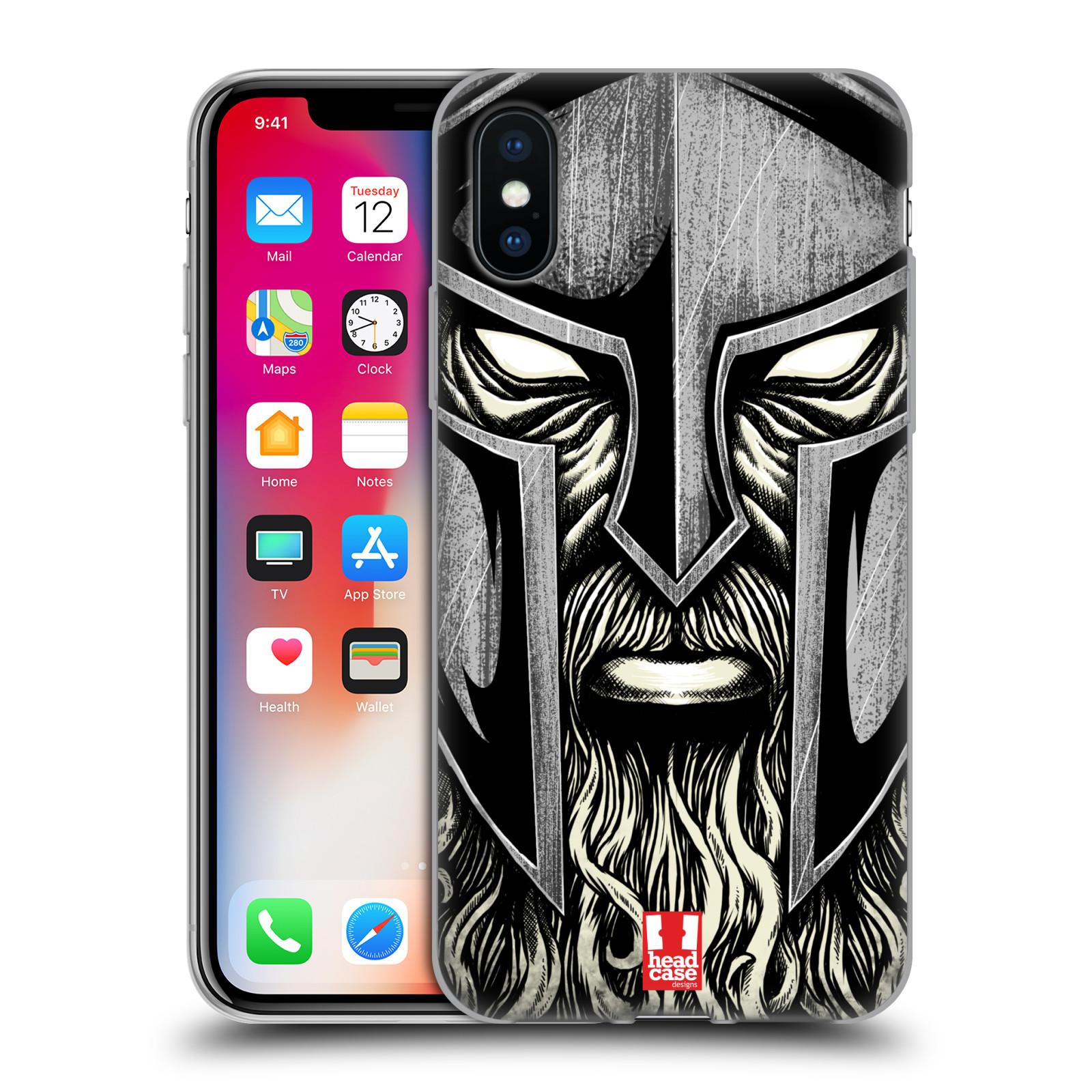 Silikonové pouzdro na mobil Apple iPhone XS - Head Case - Vousáč válečník