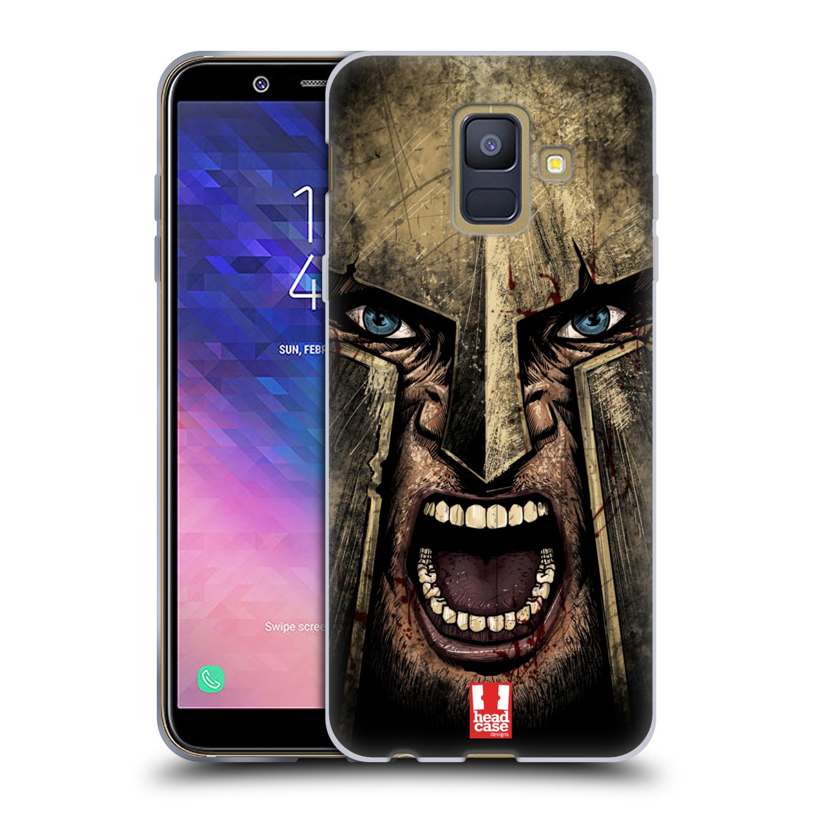 Silikonové pouzdro na mobil Samsung Galaxy A6 (2018) - Head Case - Řvoucí válečník