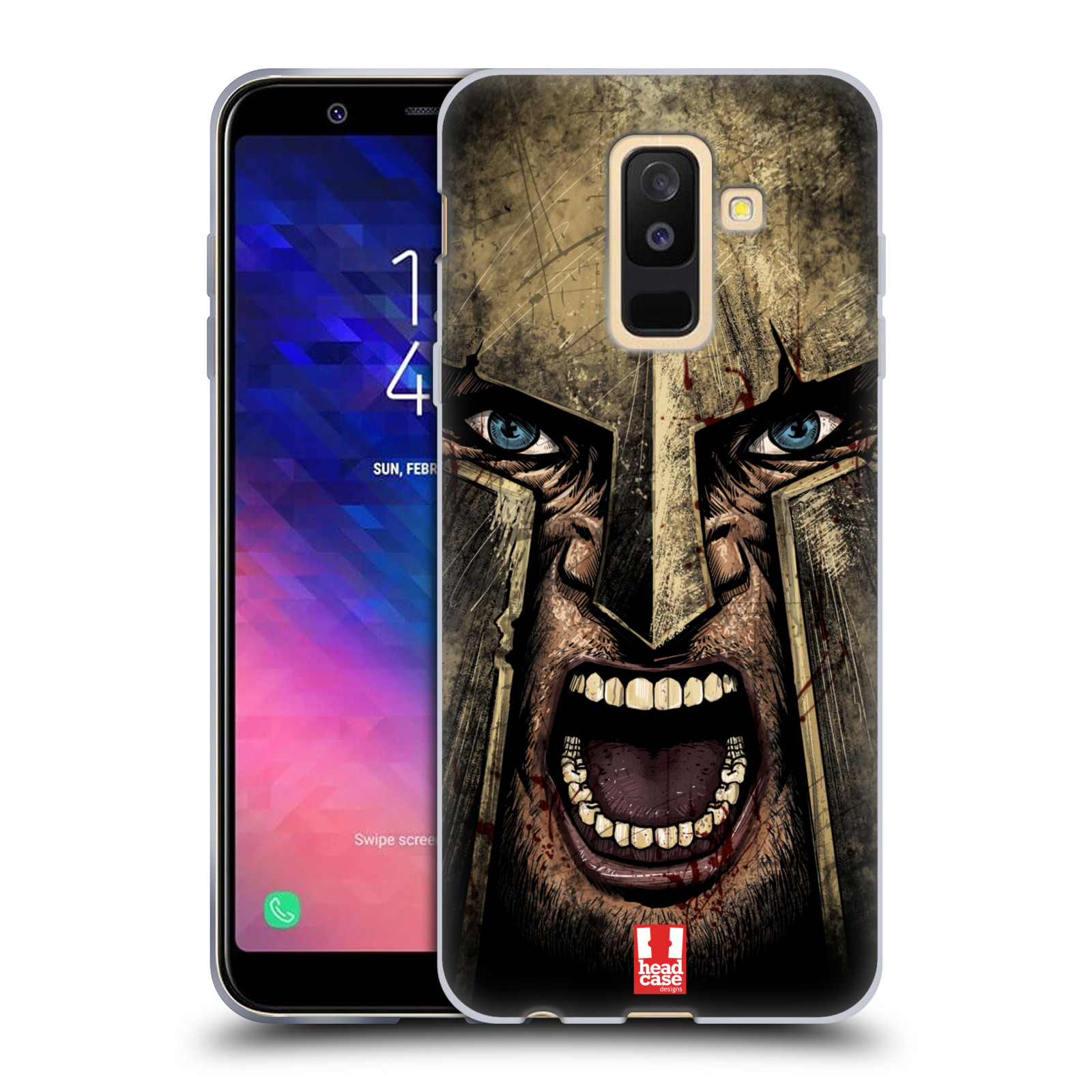 Silikonové pouzdro na mobil Samsung Galaxy A6 Plus (2018) - Head Case - Řvoucí válečník