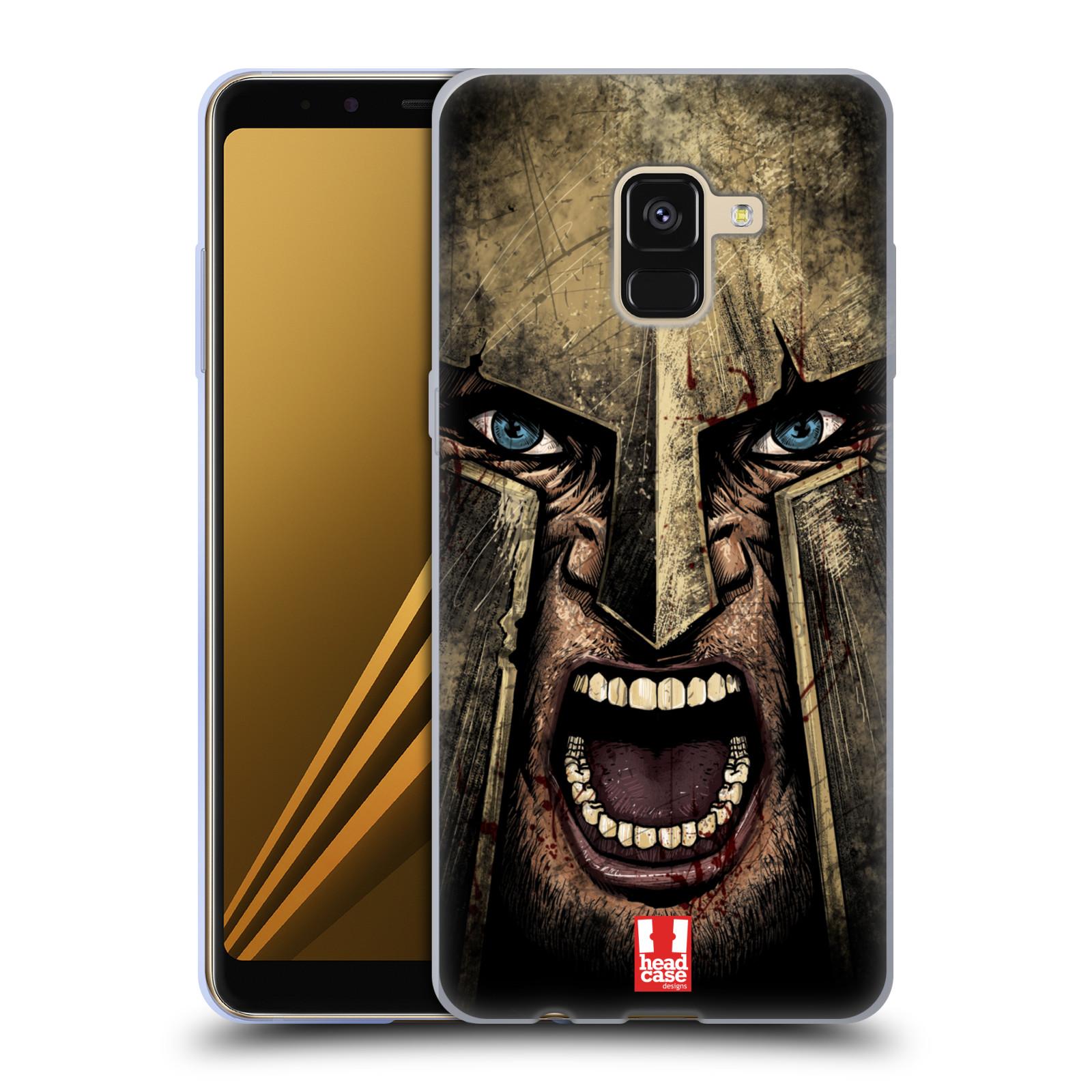 Silikonové pouzdro na mobil Samsung Galaxy A8 (2018) - Head Case - Řvoucí válečník