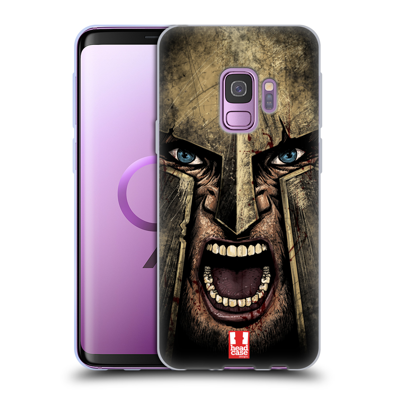 Silikonové pouzdro na mobil Samsung Galaxy S9 - Head Case - Řvoucí válečník