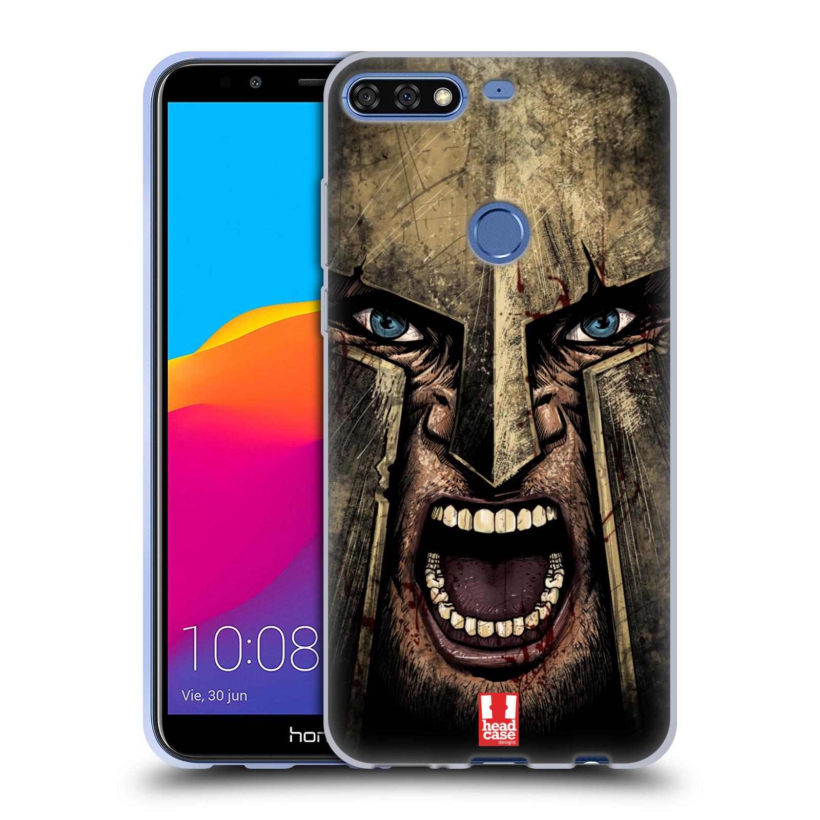 Silikonové pouzdro na mobil Huawei Y7 Prime (2018) - Head Case - Řvoucí válečník