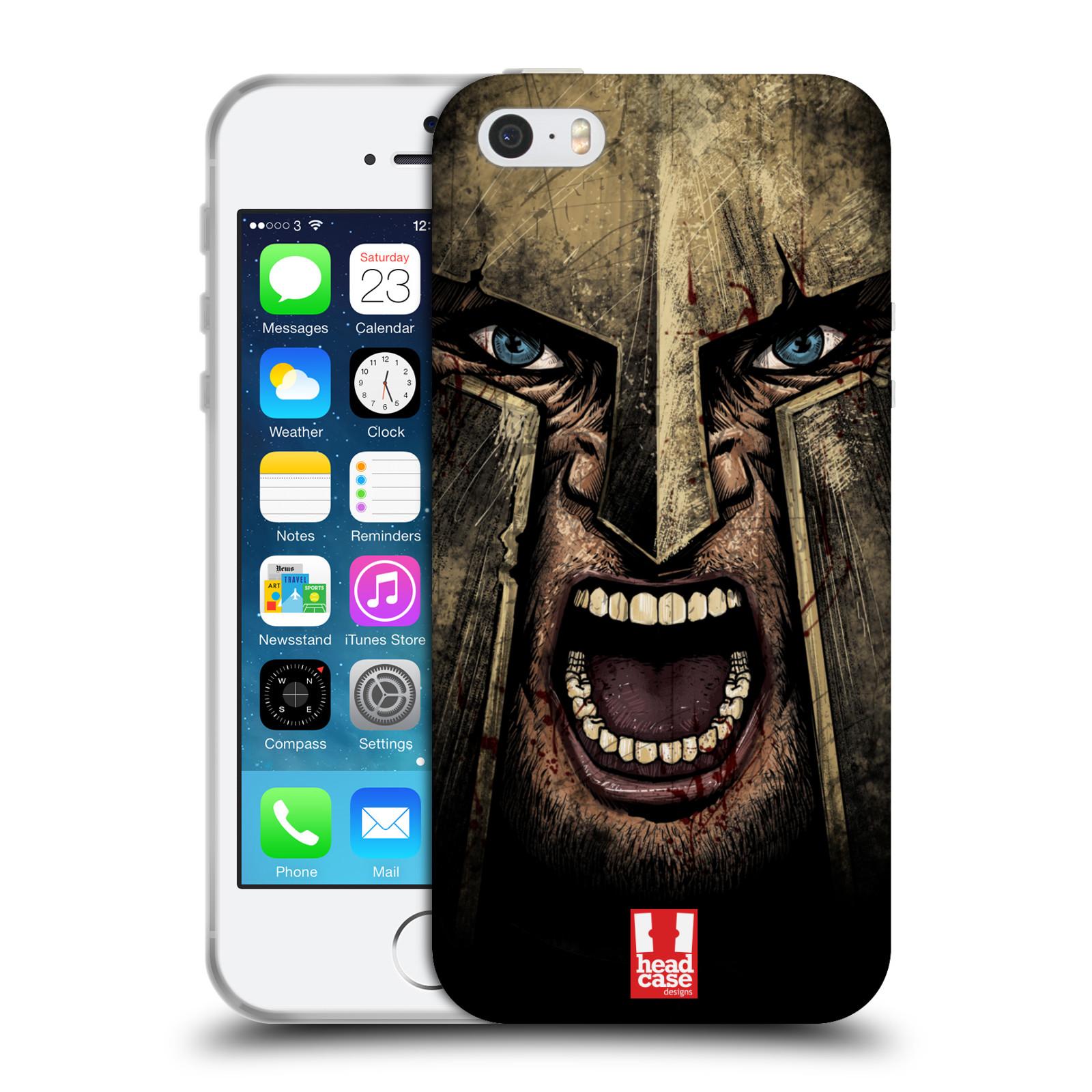 Silikonové pouzdro na mobil Apple iPhone 5, 5S, SE - Head Case - Řvoucí válečník