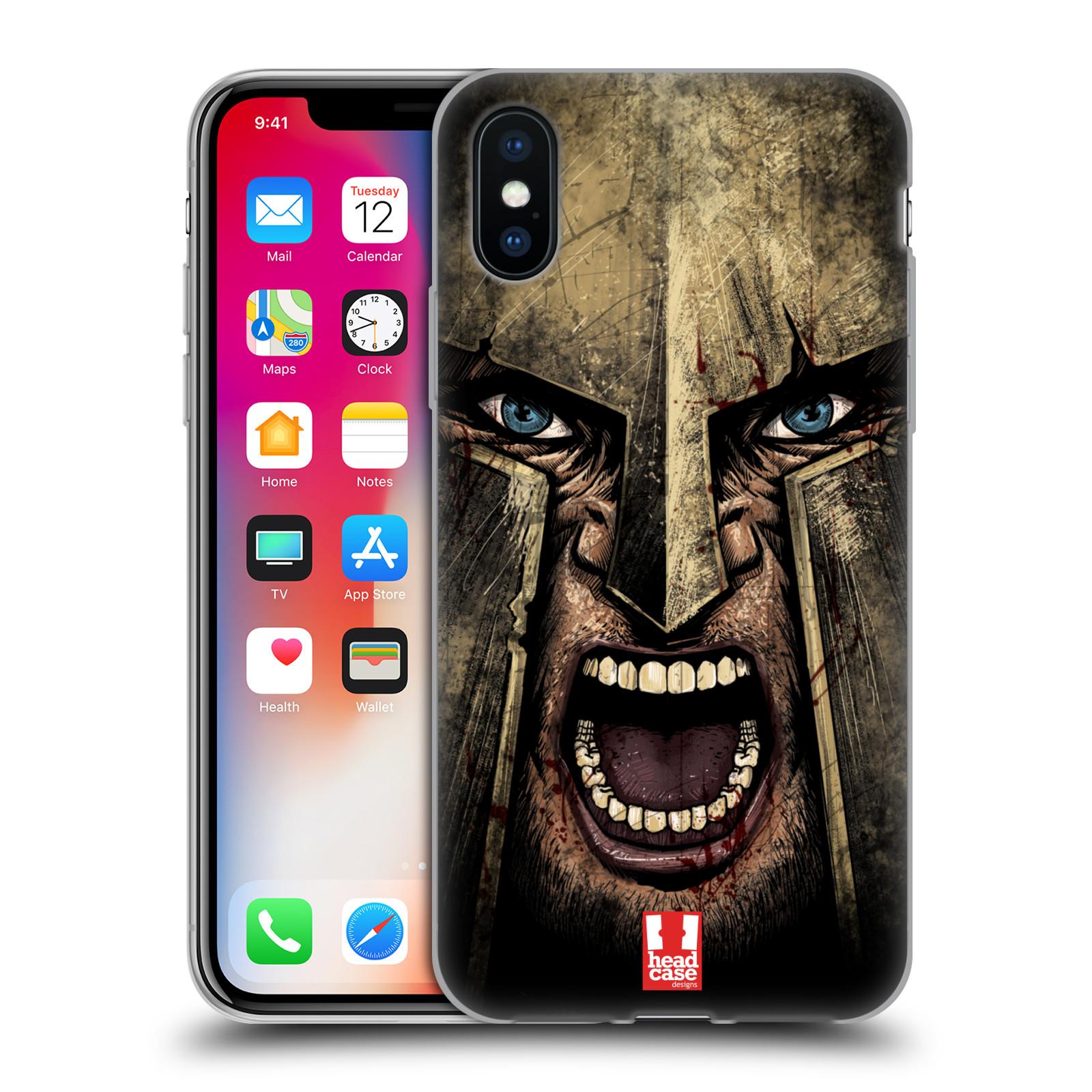 Silikonové pouzdro na mobil Apple iPhone X - Head Case - Řvoucí válečník