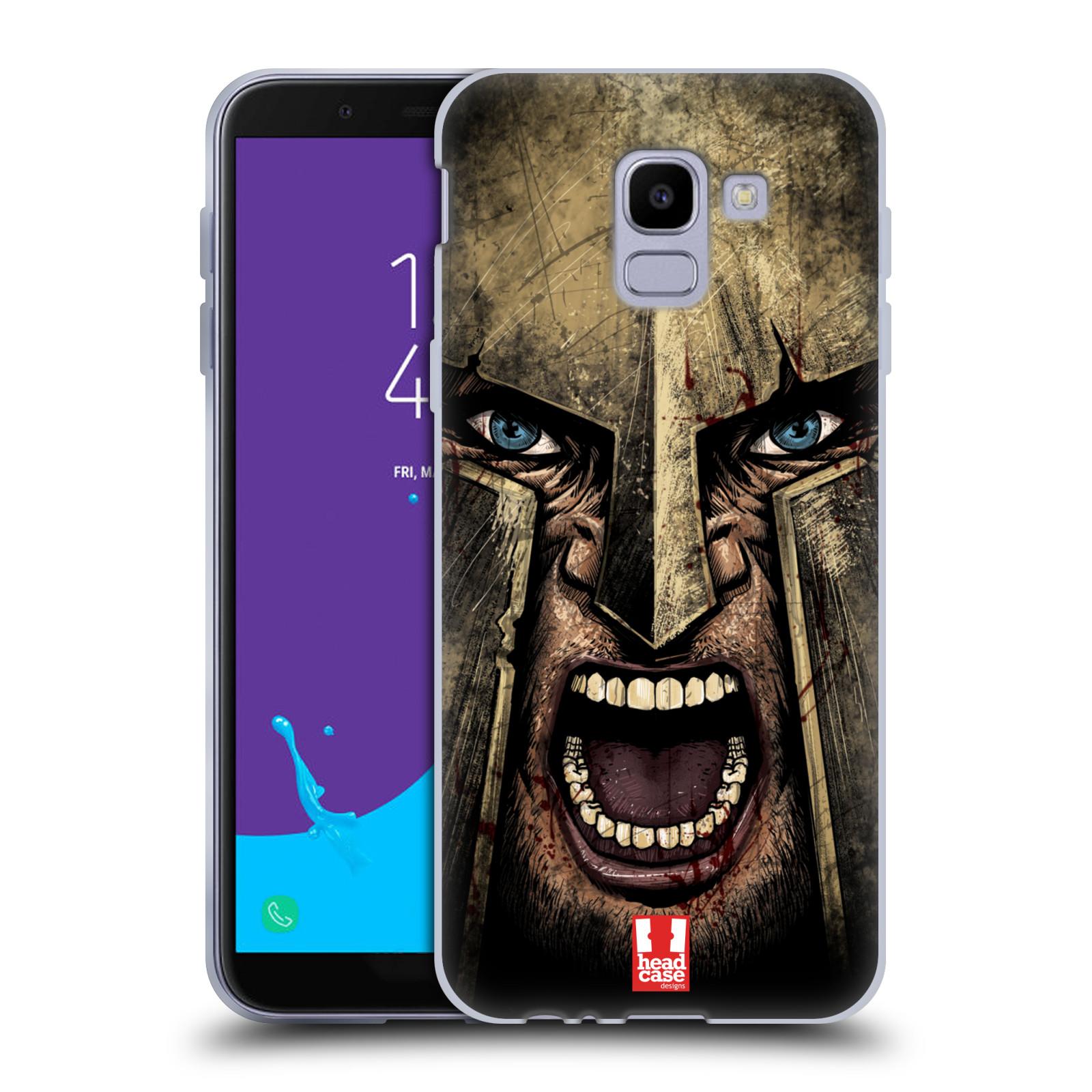 Silikonové pouzdro na mobil Samsung Galaxy J6 (2018) - Head Case - Řvoucí válečník