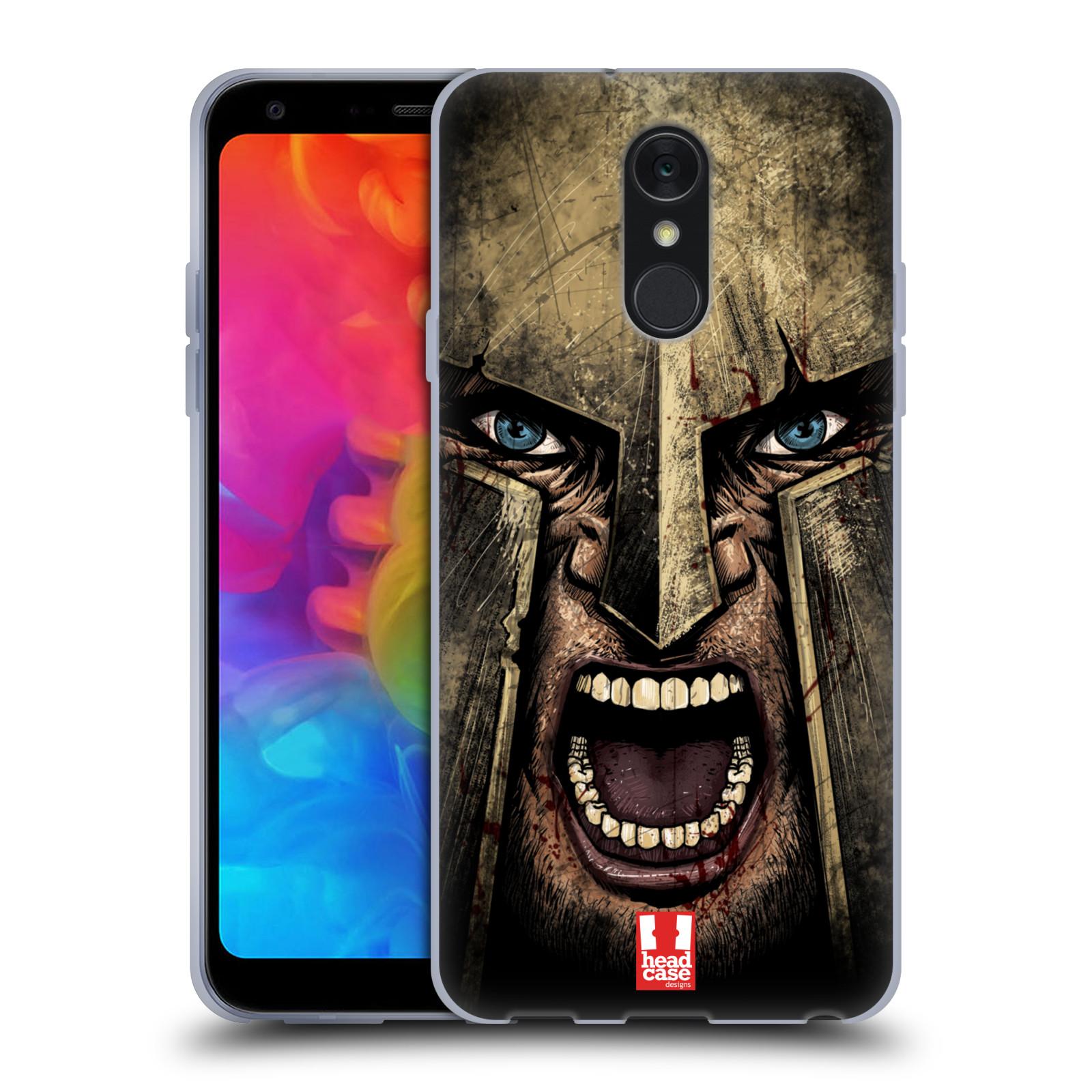 Silikonové pouzdro na mobil LG Q7 - Head Case - Řvoucí válečník
