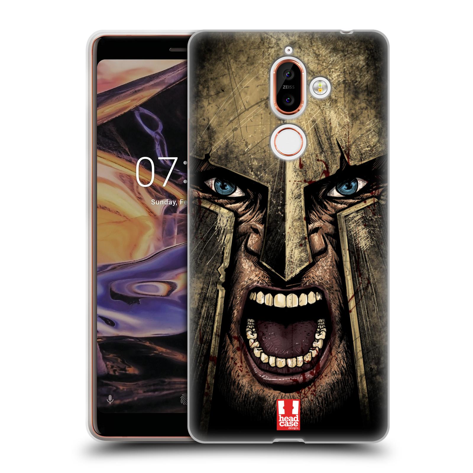 Silikonové pouzdro na mobil Nokia 7 Plus - Head Case - Řvoucí válečník
