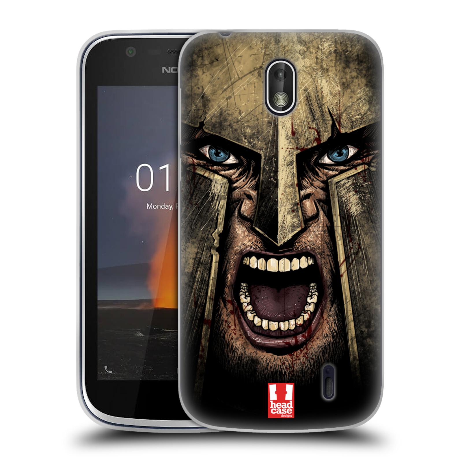 Silikonové pouzdro na mobil Nokia 1 - Head Case - Řvoucí válečník