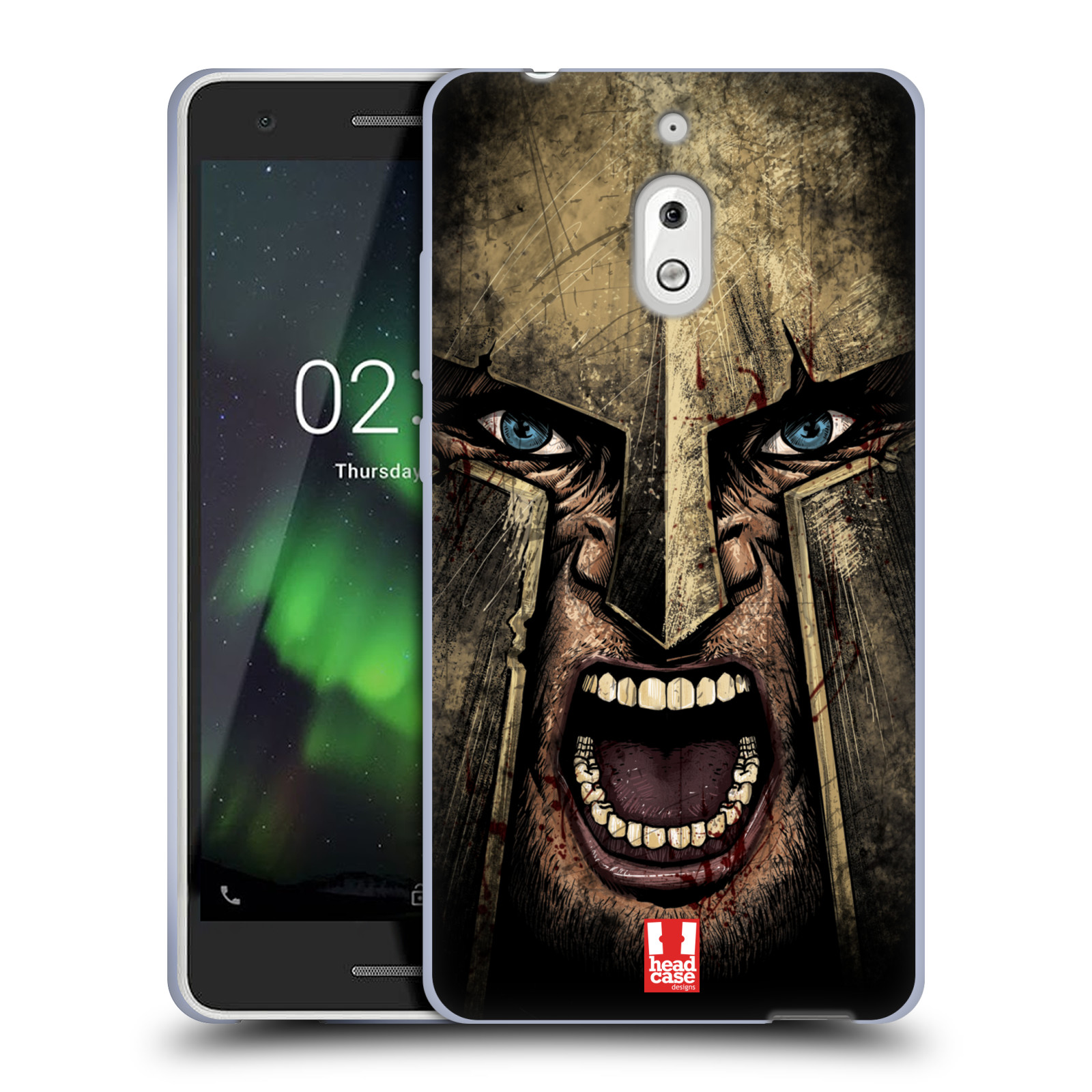 Silikonové pouzdro na mobil Nokia 2.1 - Head Case - Řvoucí válečník