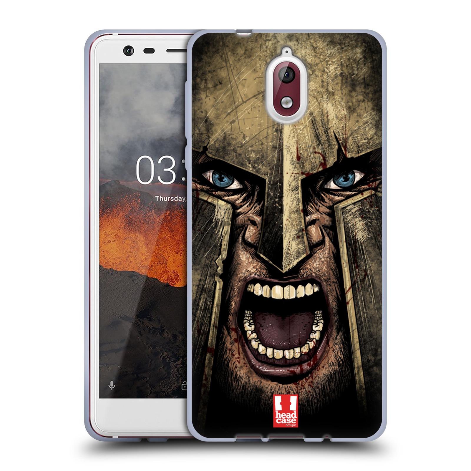 Silikonové pouzdro na mobil Nokia 3.1 - Head Case - Řvoucí válečník