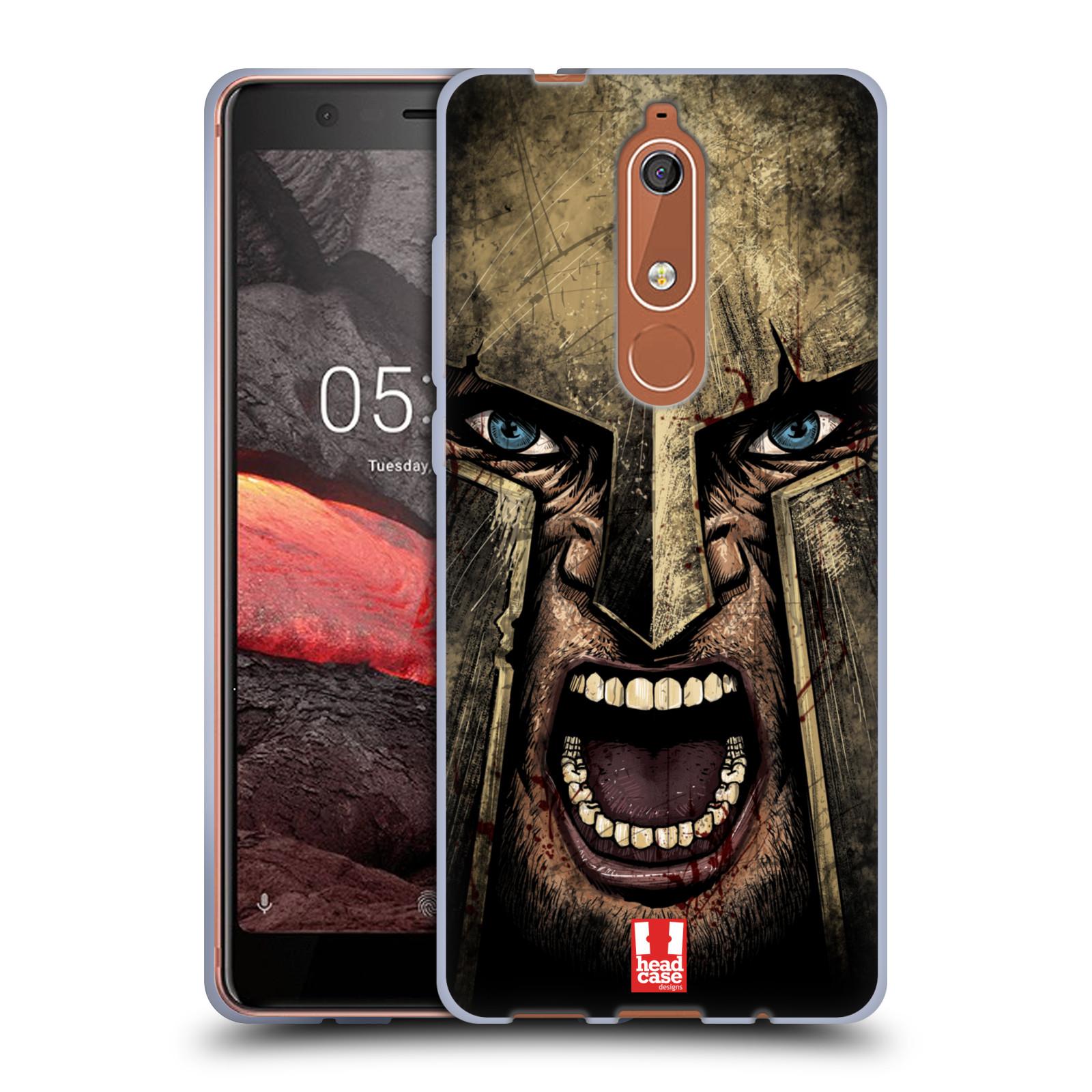 Silikonové pouzdro na mobil Nokia 5.1 - Head Case - Řvoucí válečník