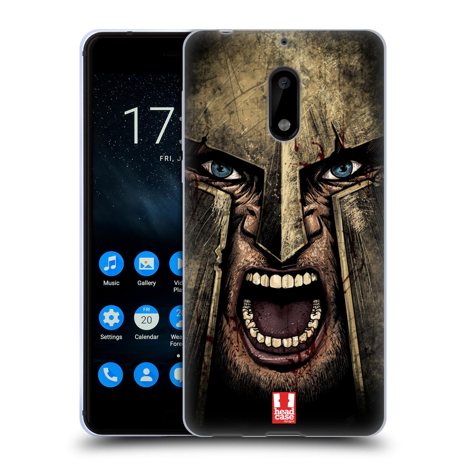 Silikonové pouzdro na mobil Nokia 6 - Head Case - Řvoucí válečník