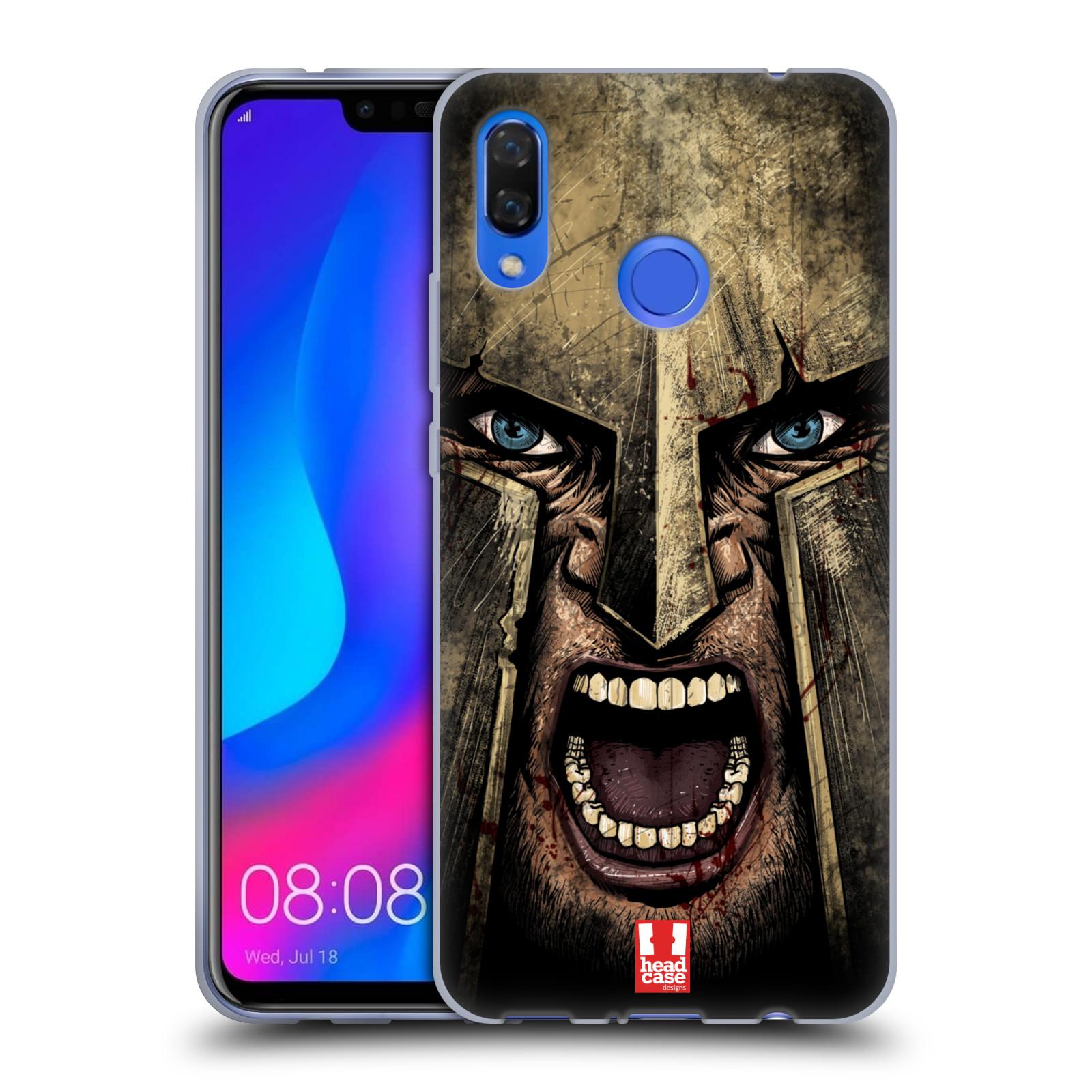 Silikonové pouzdro na mobil Huawei Nova 3 - Head Case - Řvoucí válečník