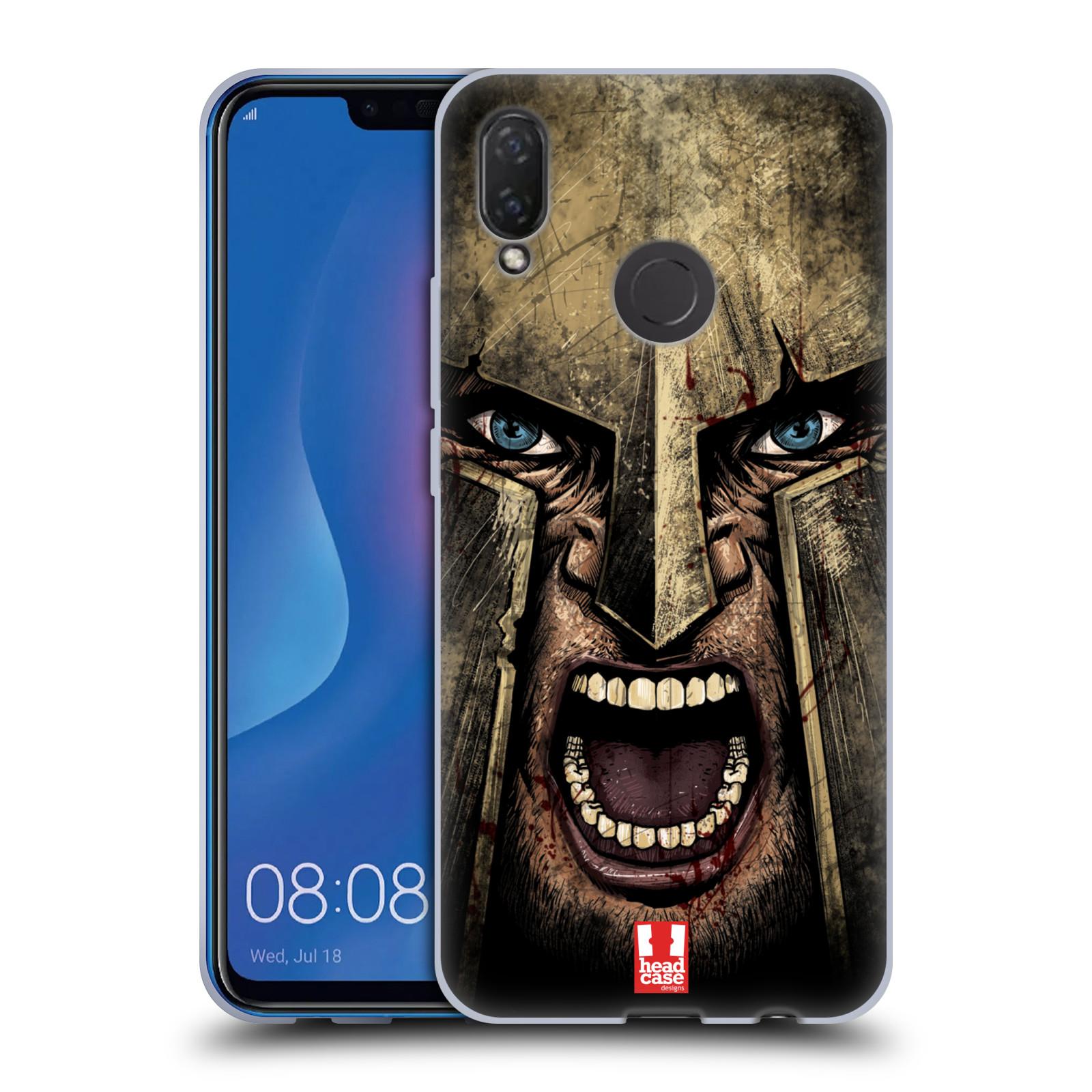 Silikonové pouzdro na mobil Huawei Nova 3i - Head Case - Řvoucí válečník