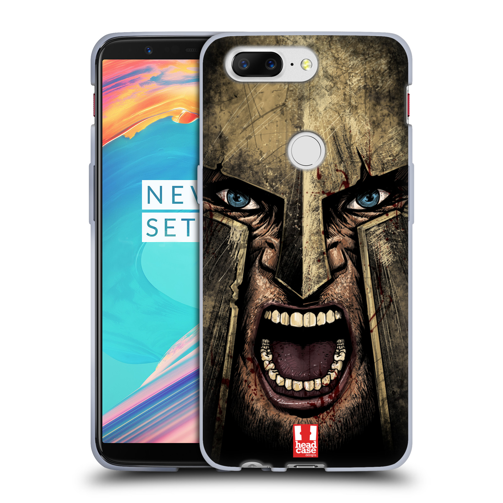 Silikonové pouzdro na mobil OnePlus 5T - Head Case - Řvoucí válečník