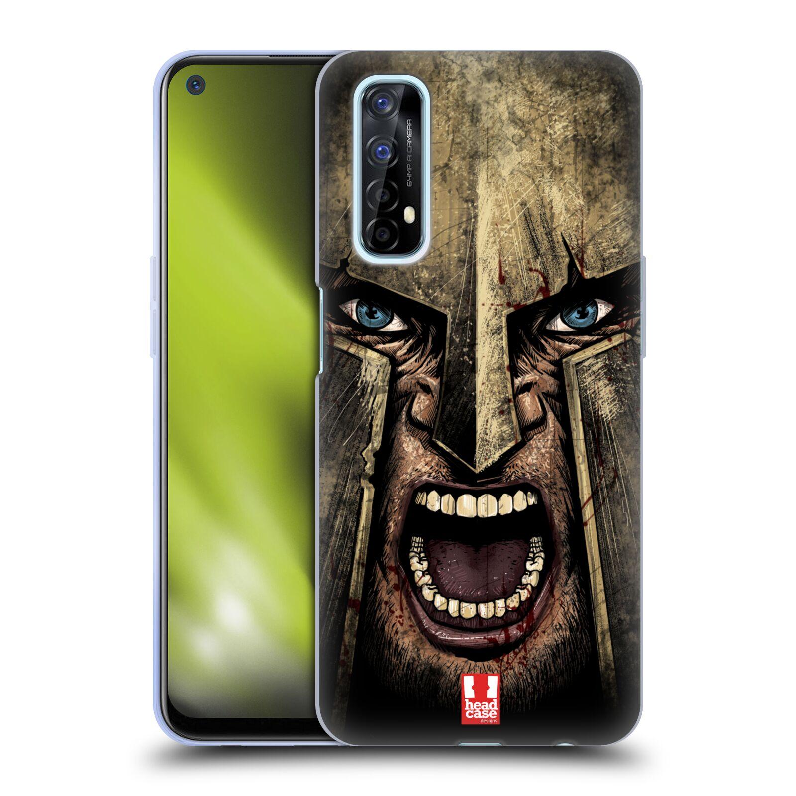 Silikonové pouzdro na mobil Realme 7 - Head Case - Řvoucí válečník