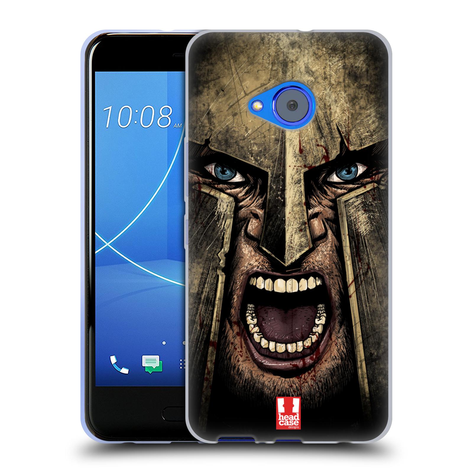 Silikonové pouzdro na mobil HTC U11 Life - Head Case - Řvoucí válečník