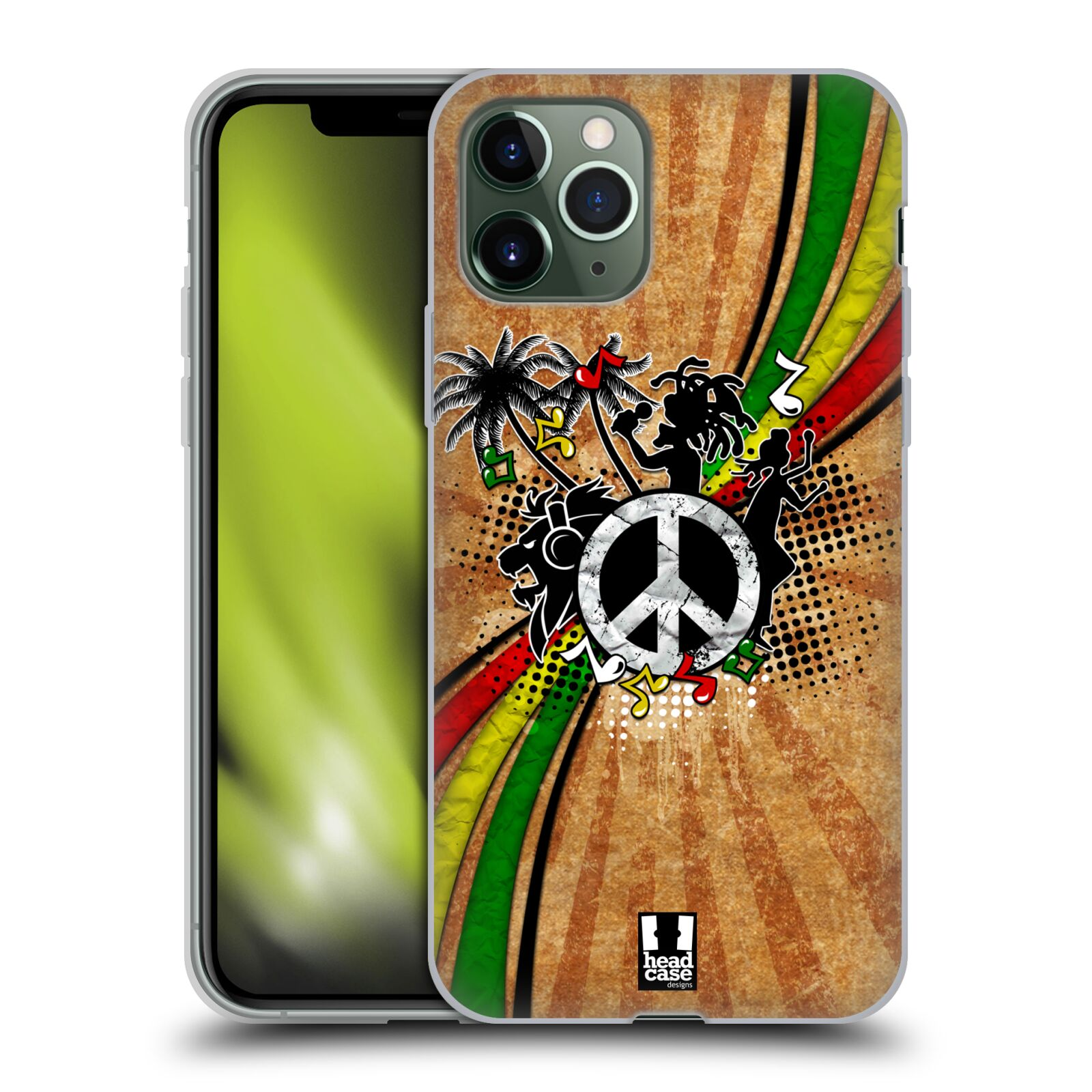 etui na iphone 7 gucci allegro | Silikonové pouzdro na mobil Apple iPhone 11 Pro - Head Case - REGGAE